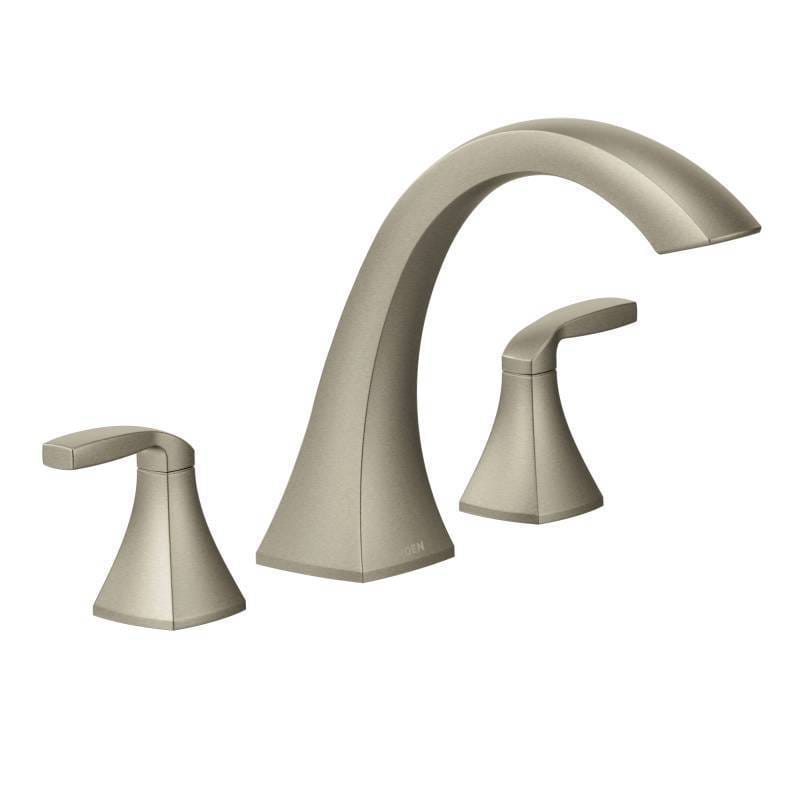 Shop Moen Voss Brushed Nickel Two-handle High Arc Roman Tub Faucet ...