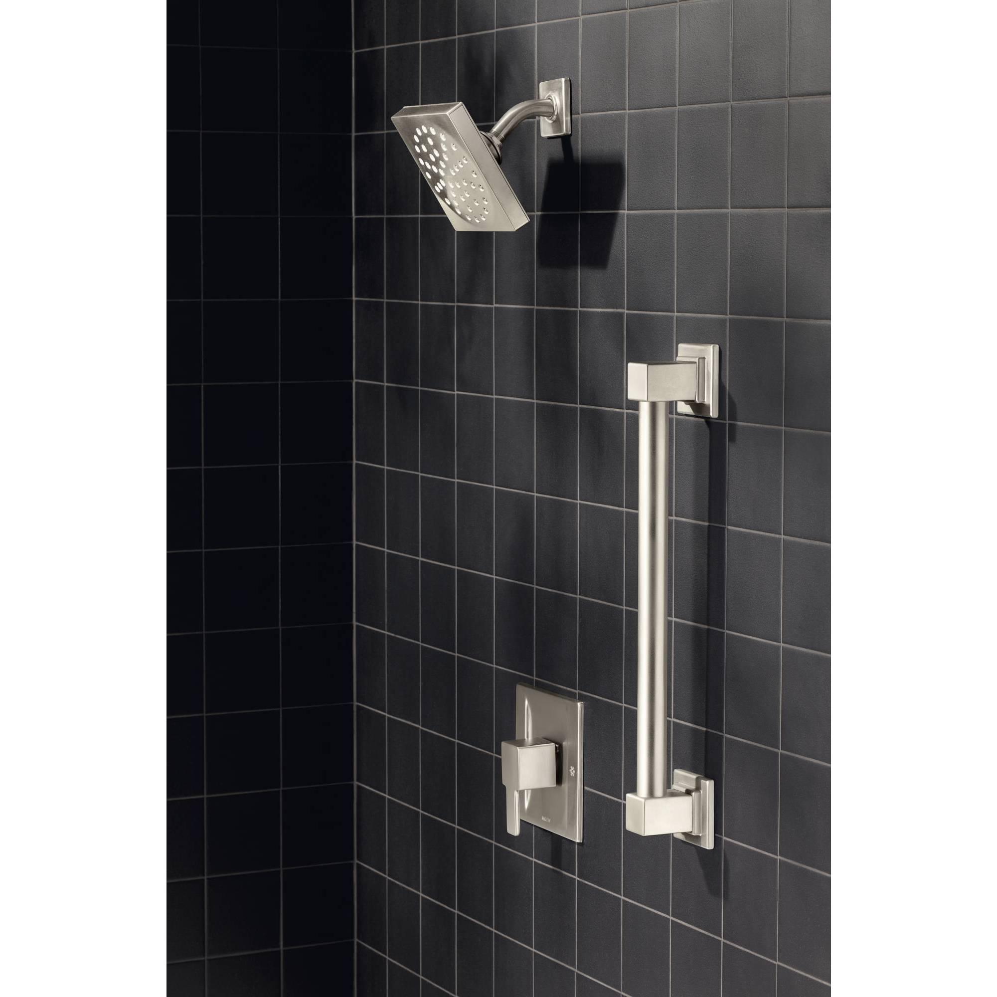 Shop Moen Moentrol 90-degree Brushed Nickel Shower Only - Free ...