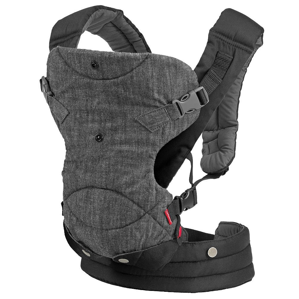 Shop Infantino Fusion Grey Cotton 4 In 1 Convertible Baby Carrier