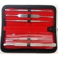 Defender 5-piece Dental Micro Elevator Periosteal Set and Velvet Pouch