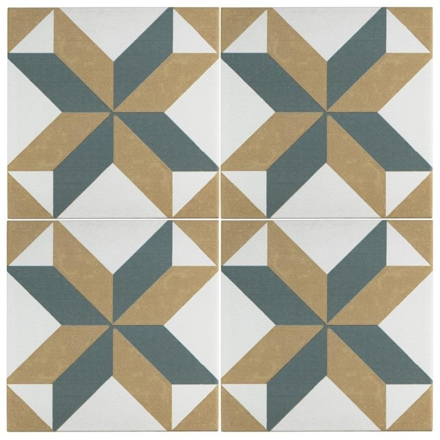 Somertile 7 75x7 75 Inch Renaissance Pattern Ceramic Floor And Wall Tile 25 Tiles 11 Sqft Free Shipping Today 9231216