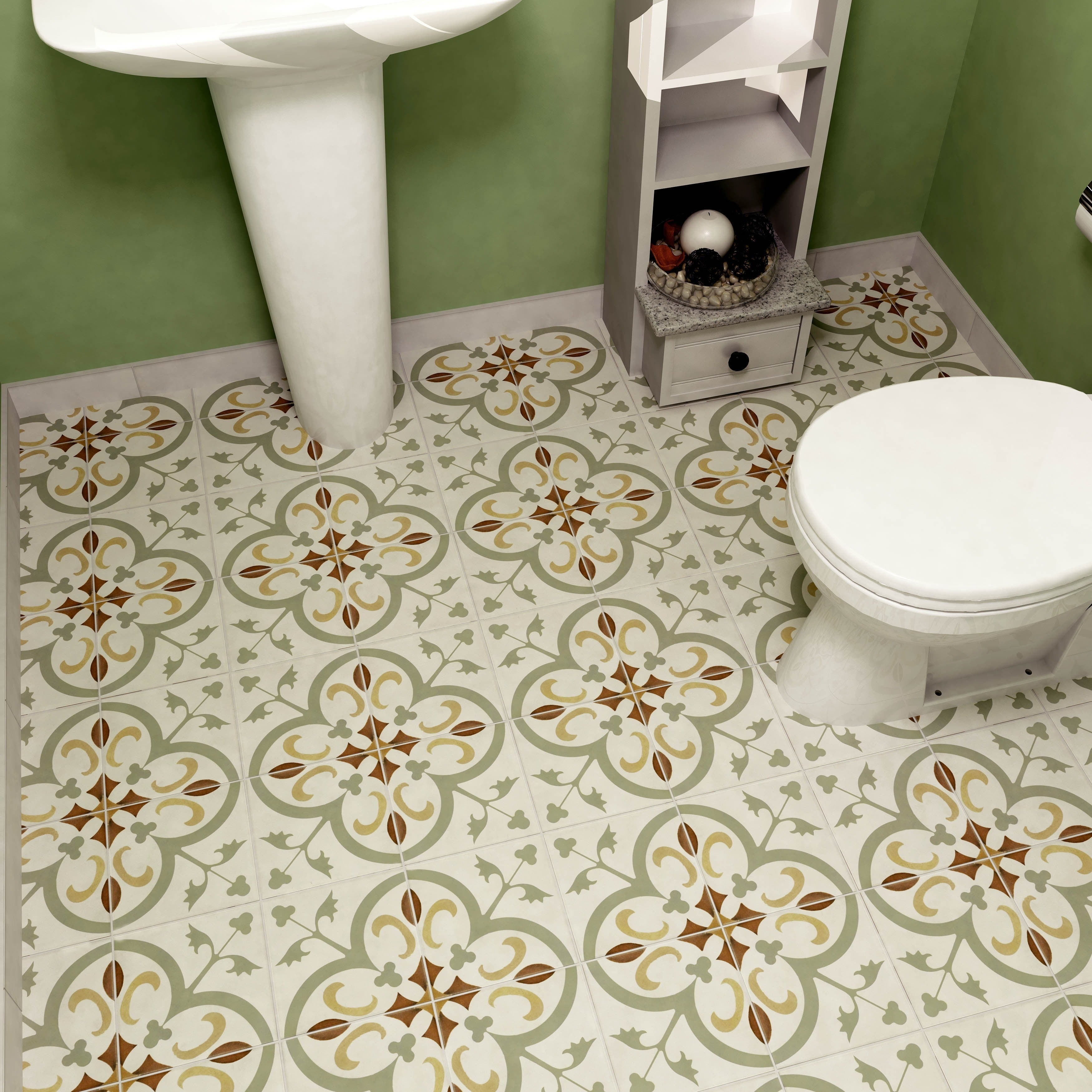 Shop SomerTile 7.75 x 7.75-inch Renaissance Memory Ceramic Floor and ...