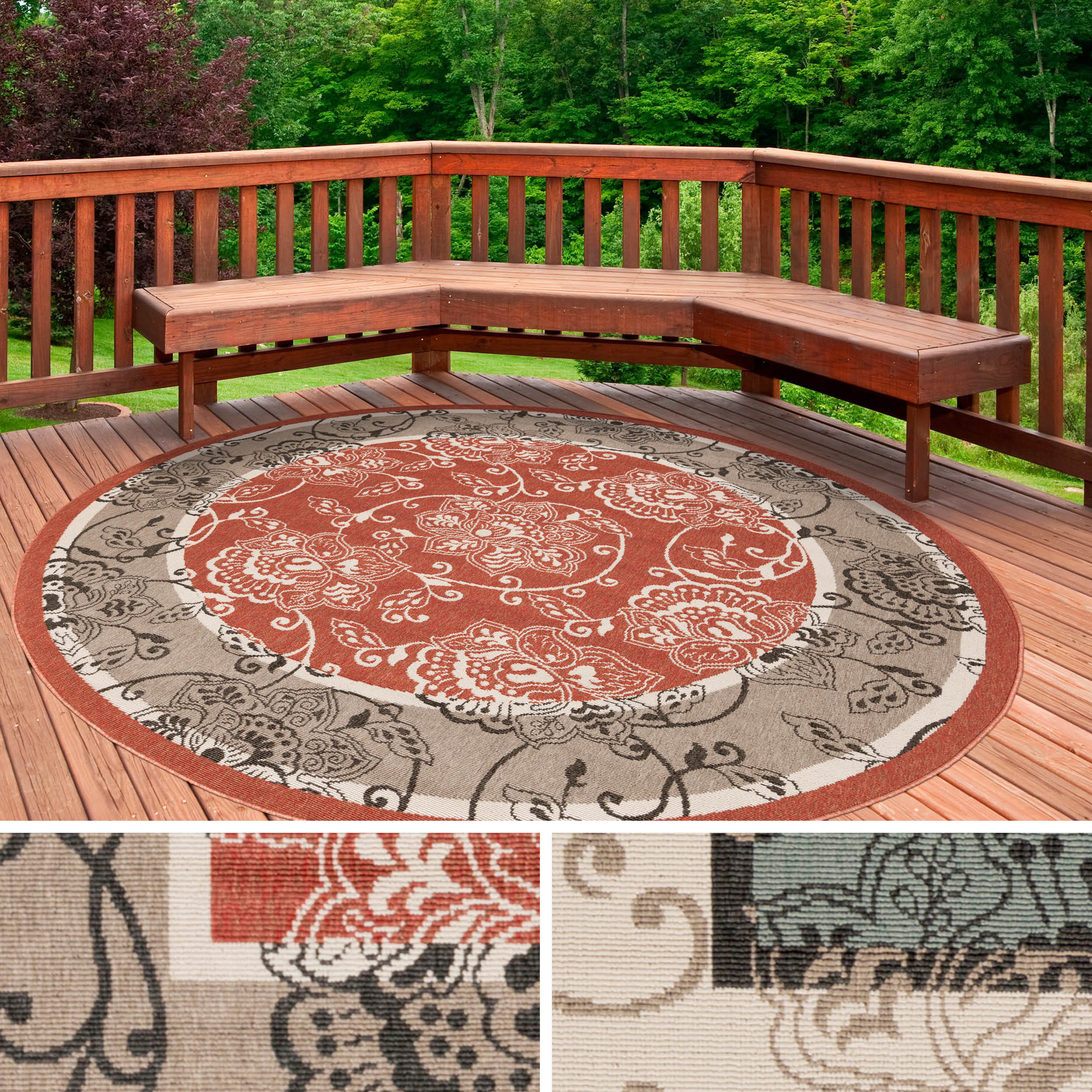 Janelle Contemporary Fl Indoor Outdoor Area Rug 5 3 Free Shipping Today 16398739