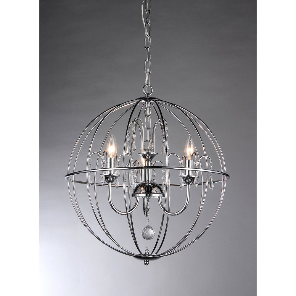 chandelier garden crystal sphere with product cage today free overstock home shipping crystals