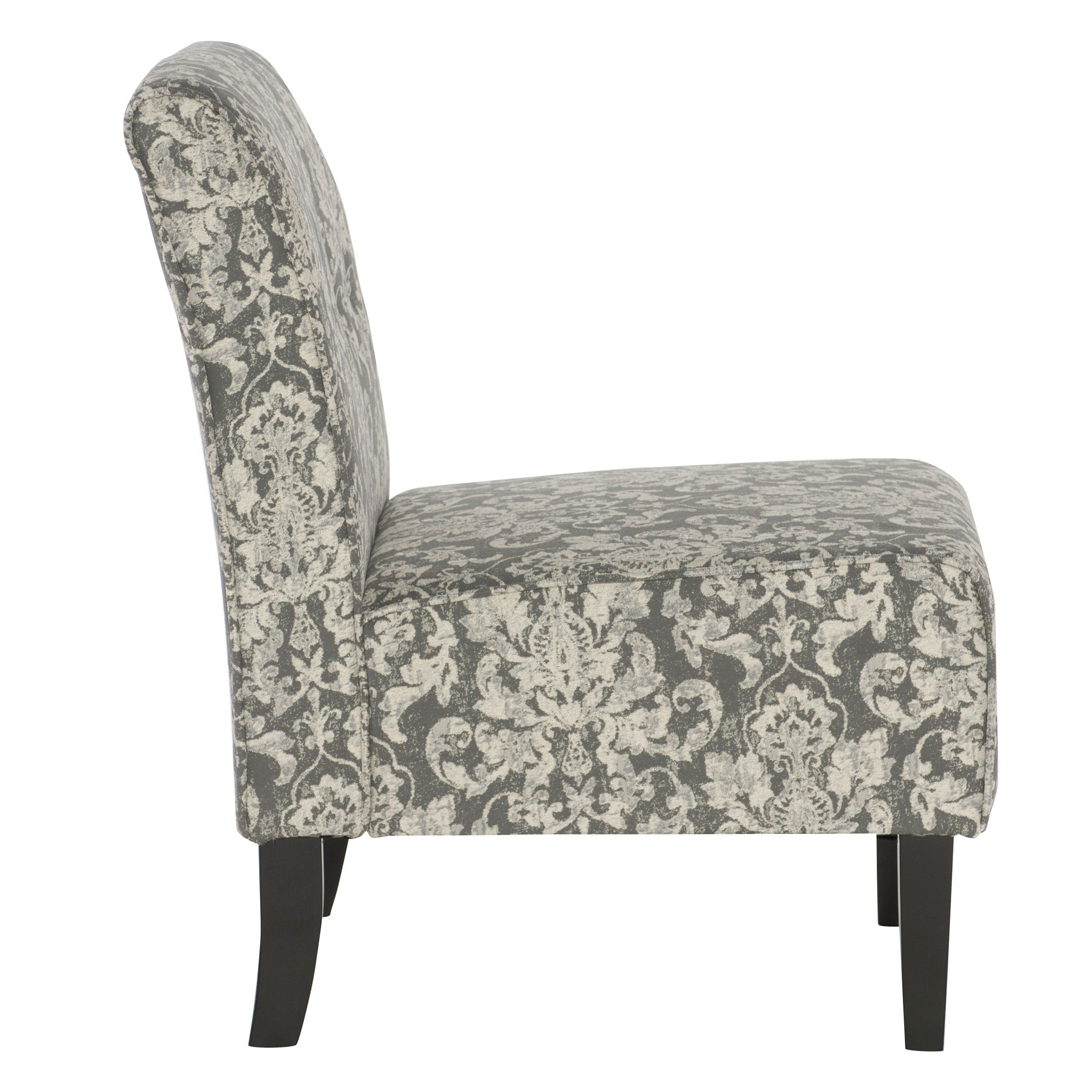 Linon Cozy Grey Woven Fabric Button Tufted Lounge Chair   Free Shipping  Today   Overstock   16399045