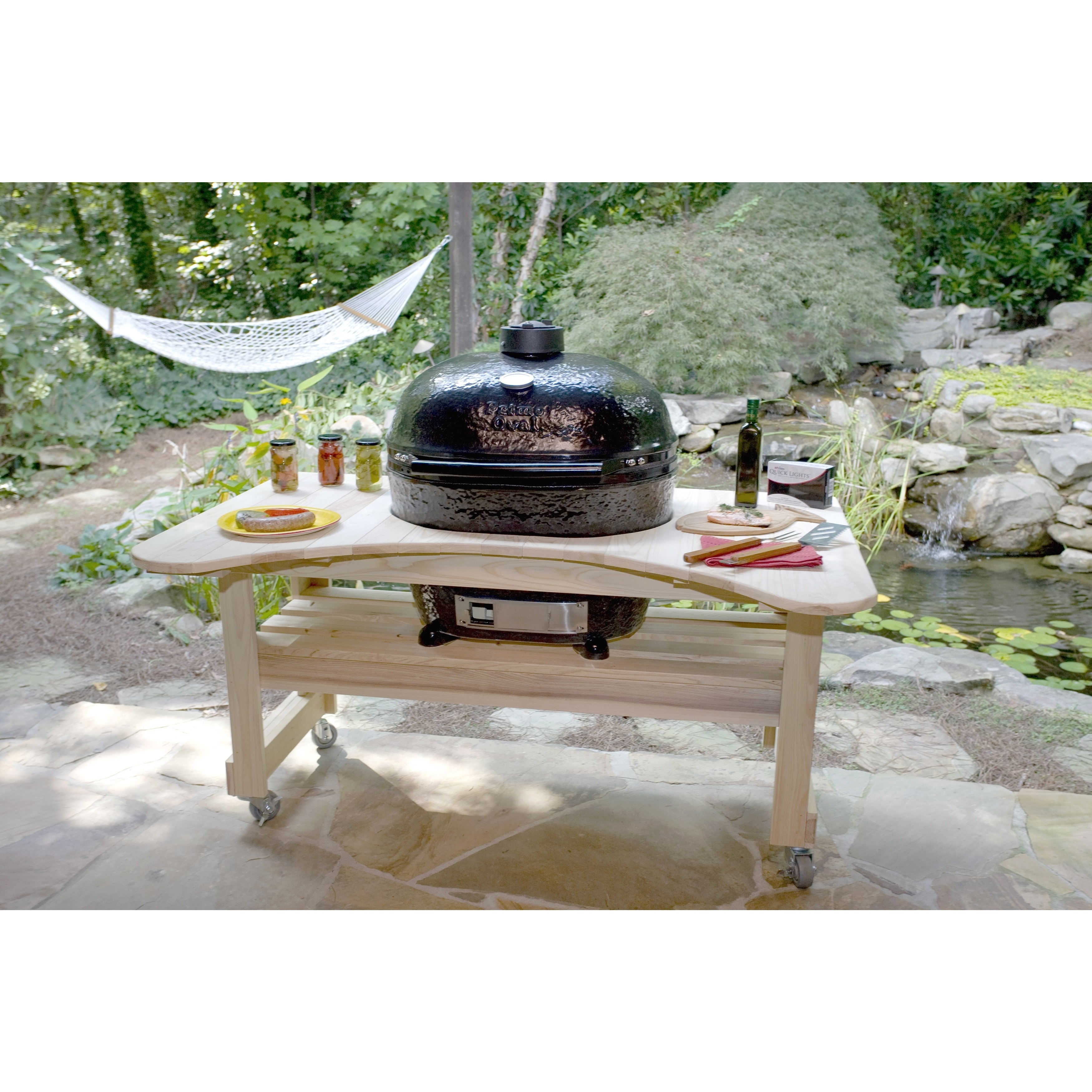 Primo oval lg 300 kamado style ceramic grill and smoker free primo oval lg 300 kamado style ceramic grill and smoker free shipping today overstock 16399297 dailygadgetfo Images