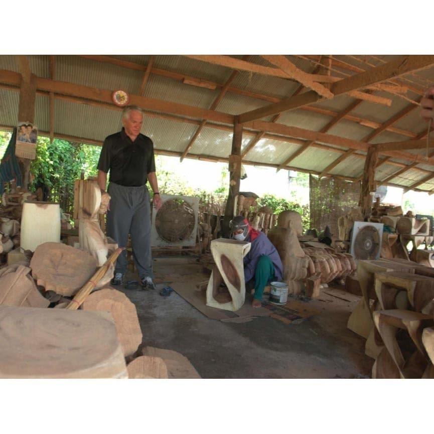 Relatively Handmade Teak Wood Lotus Wall Panels (Thailand) - Free Shipping  TX78