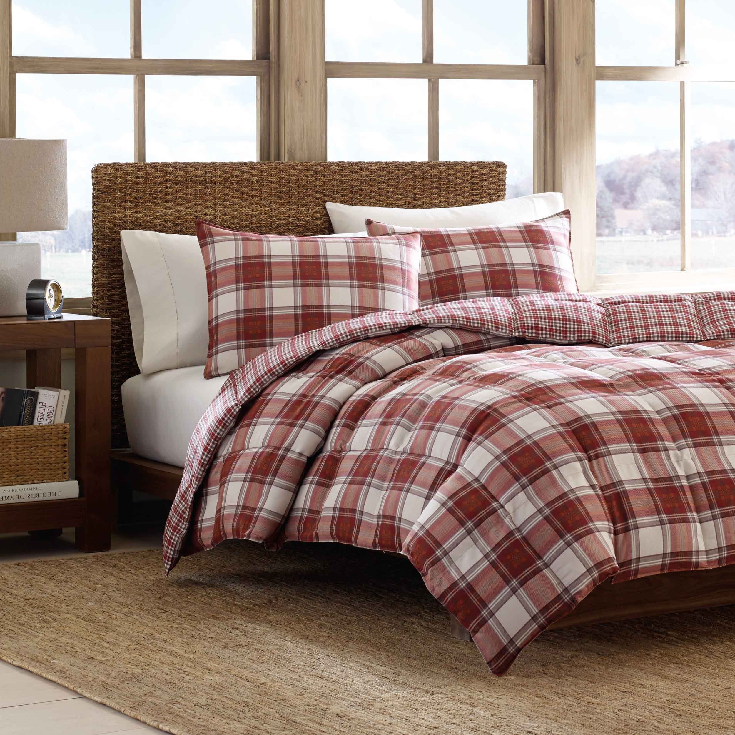 eddie overstock shipping bath bedding bauer white mountain free sets plaid black set comforter product today