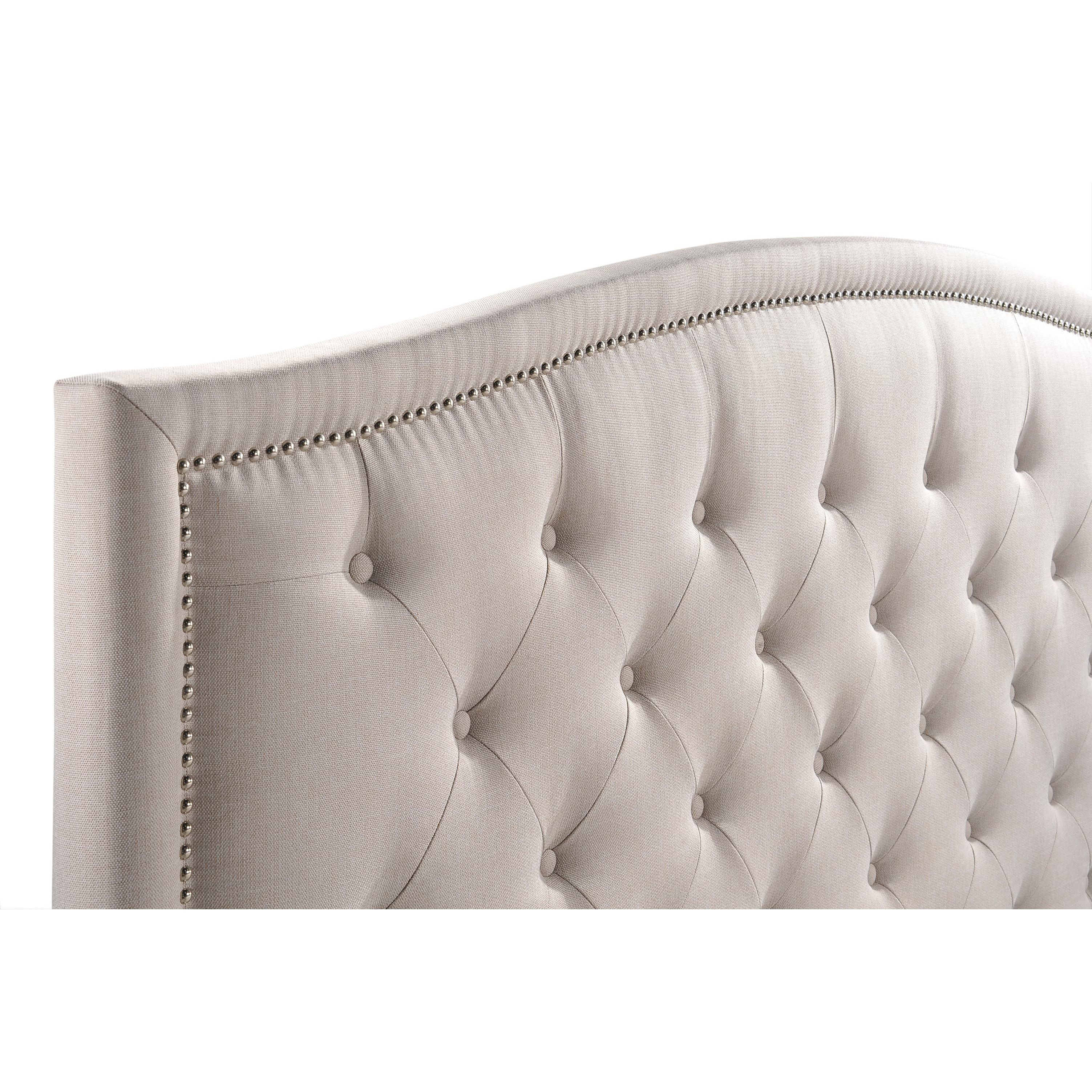 Luxeo Camden Tufted Palazzo Khaki Mist Colored Contemporary Upholstered Bed