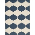 Safavieh Courtyard Poolside Beige/ Navy Indoor/ Outdoor Rug (8' x 11')