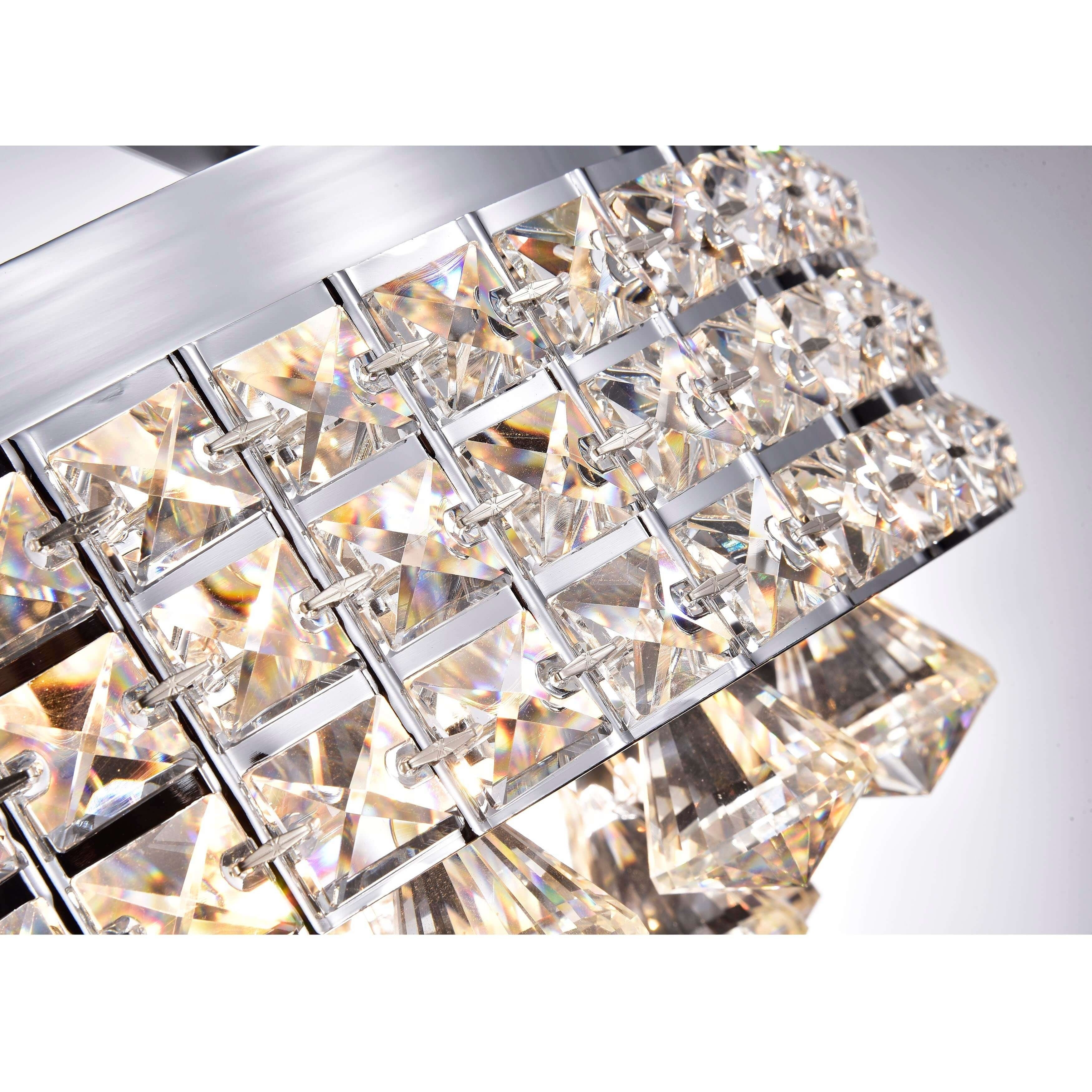 Antonia 4 light crystalchrome iron shade semi flush mount antonia 4 light crystalchrome iron shade semi flush mount chandelier free shipping today overstock 16404231 arubaitofo Gallery