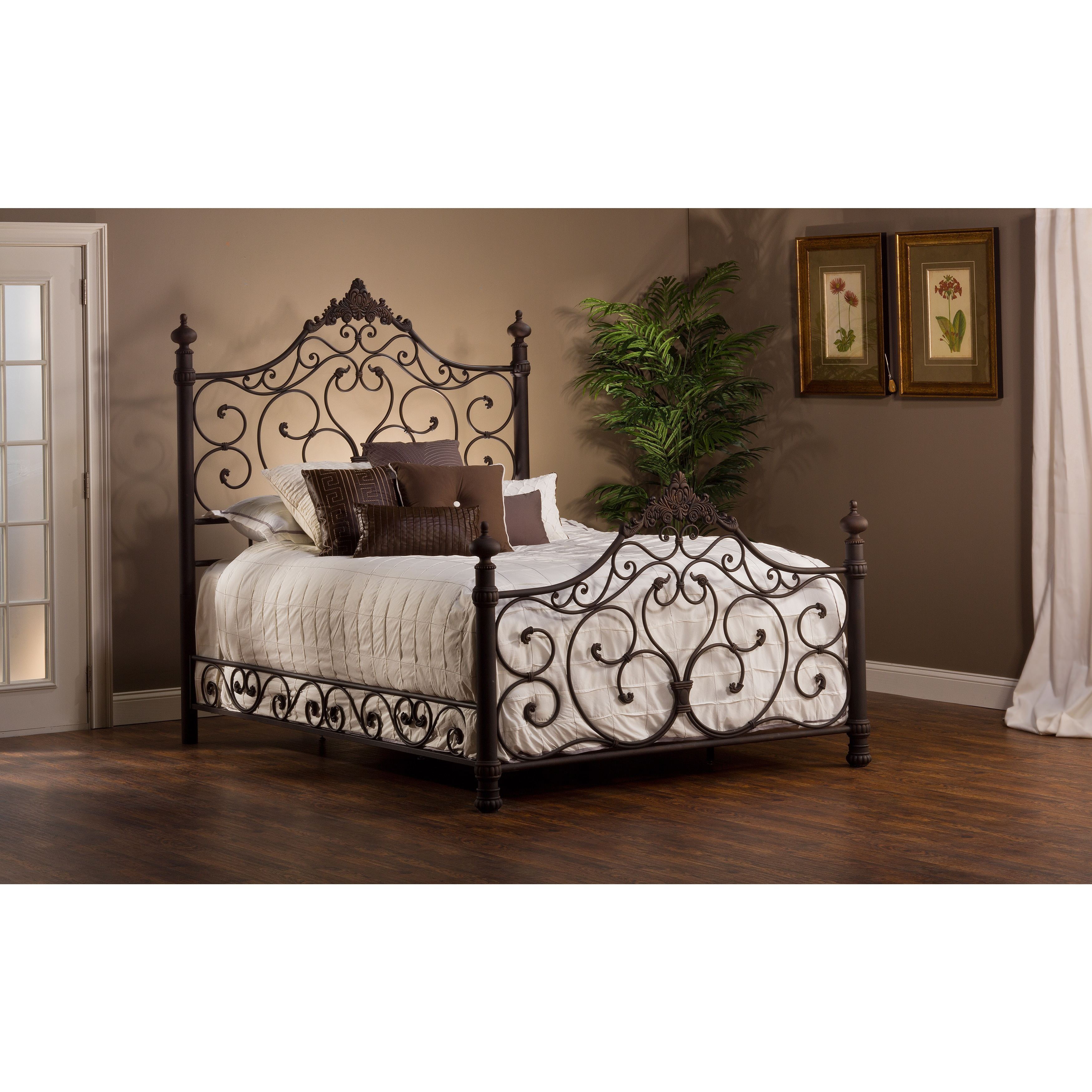 Shop Baremore Antique Brown Bed Set   On Sale   Free Shipping Today    Overstock.com   9237832