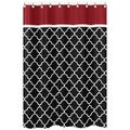 Sweet Jojo Designs Red/ Black Trellis Shower Curtain