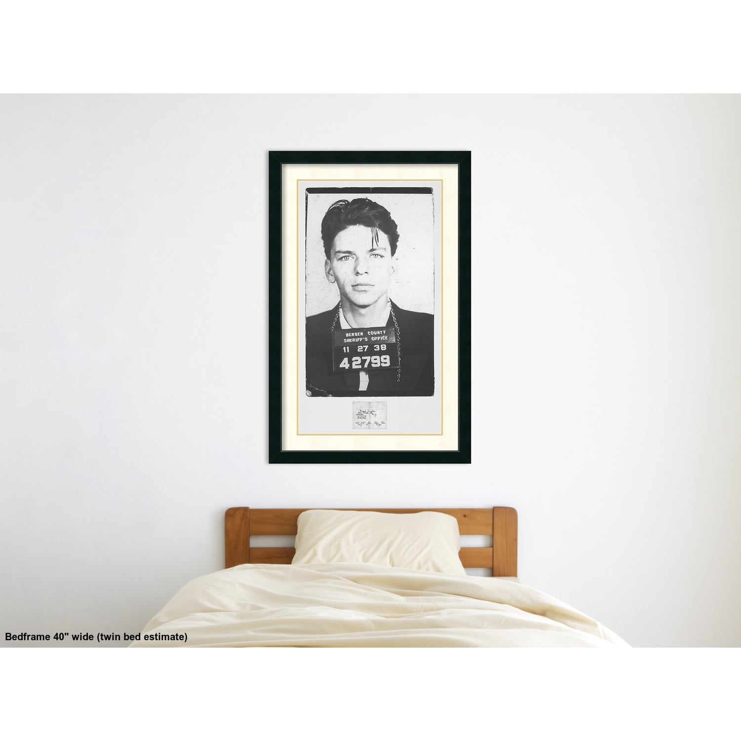 Framed art print frank sinatra mugshot 28 x 43 inch free framed art print frank sinatra mugshot 28 x 43 inch free shipping today overstock 16405619 jeuxipadfo Gallery