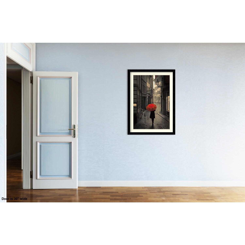 Framed Art Print \'Red Rain\' by Stefano Corso 31 x 43-inch - Free ...