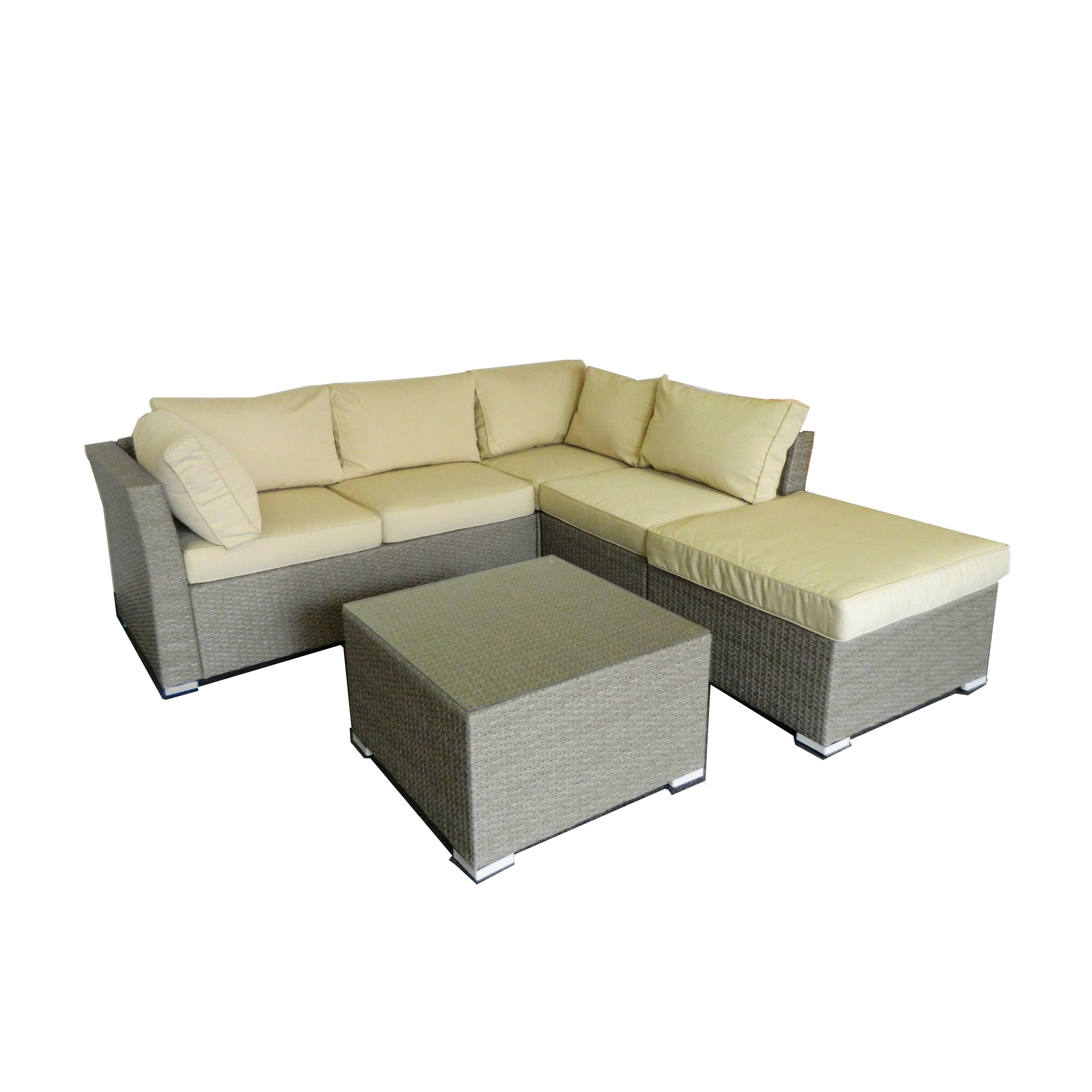 the-Hom Jicaro 5-piece Outdoor Wicker Sectional Sofa Set - Free ...
