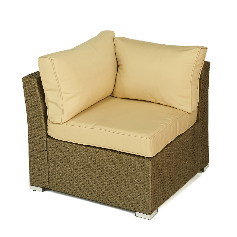 Shop The Hom Jicaro 5 Piece Outdoor Wicker Sectional Sofa Set Free