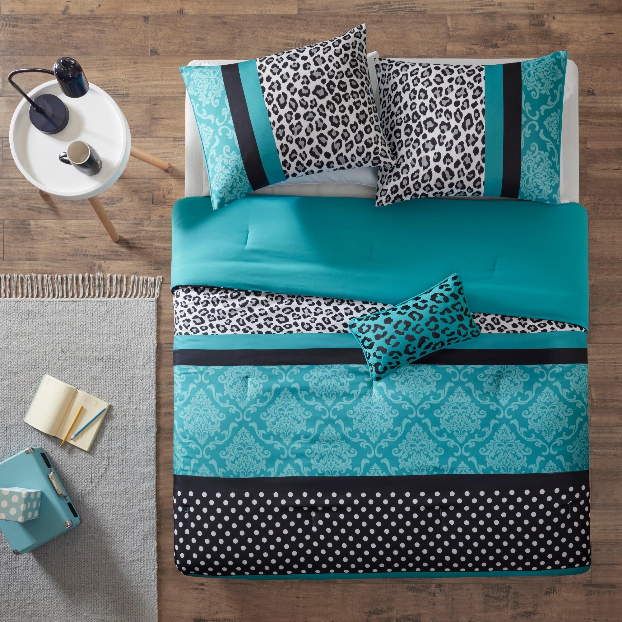 Shop Mi Zone Camille Teal Pieced Animal Print Comforter Set - Free ...