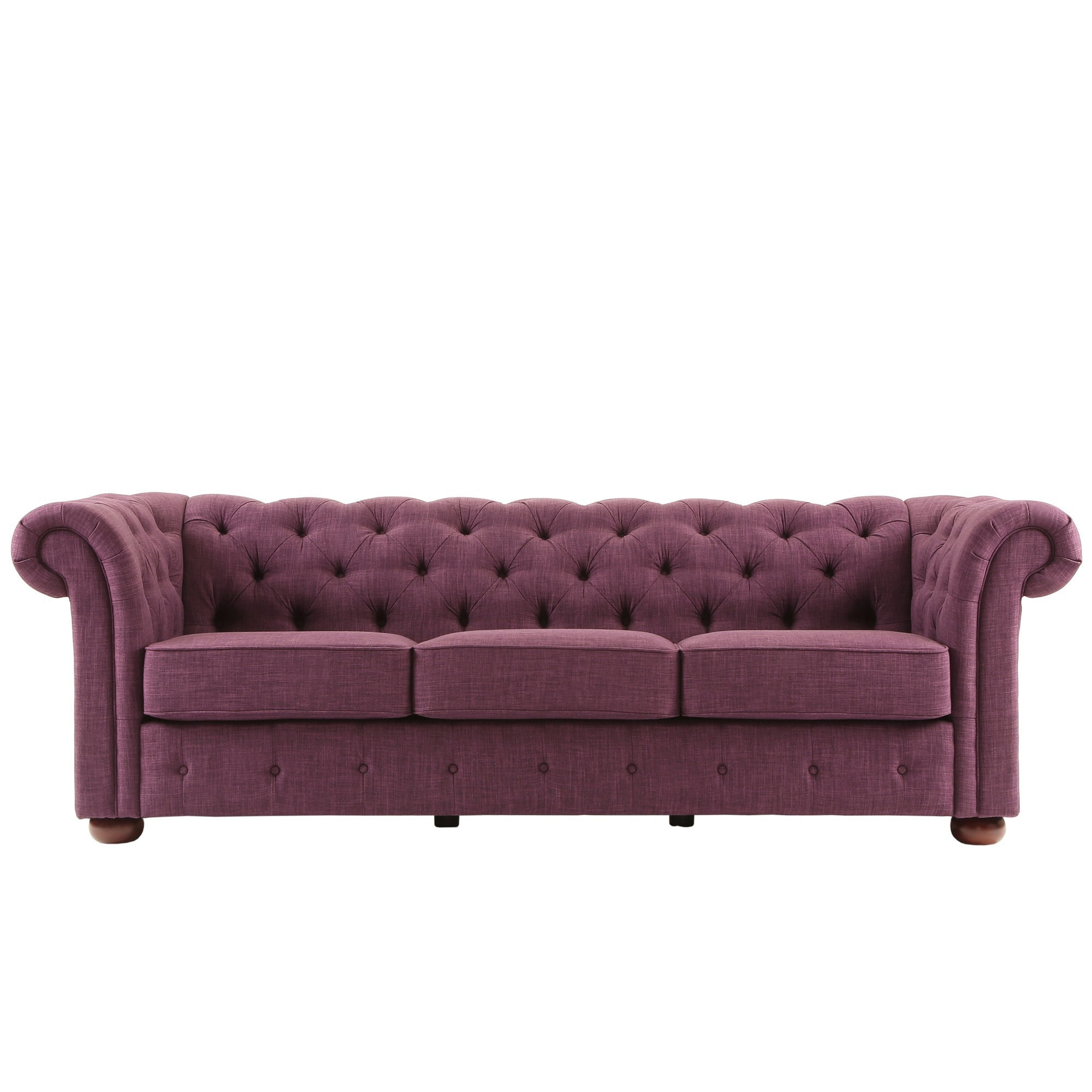 Knightsbridge Tufted Scroll Arm Chesterfield Sofa By Inspire Q On Free Shipping Today 9242312