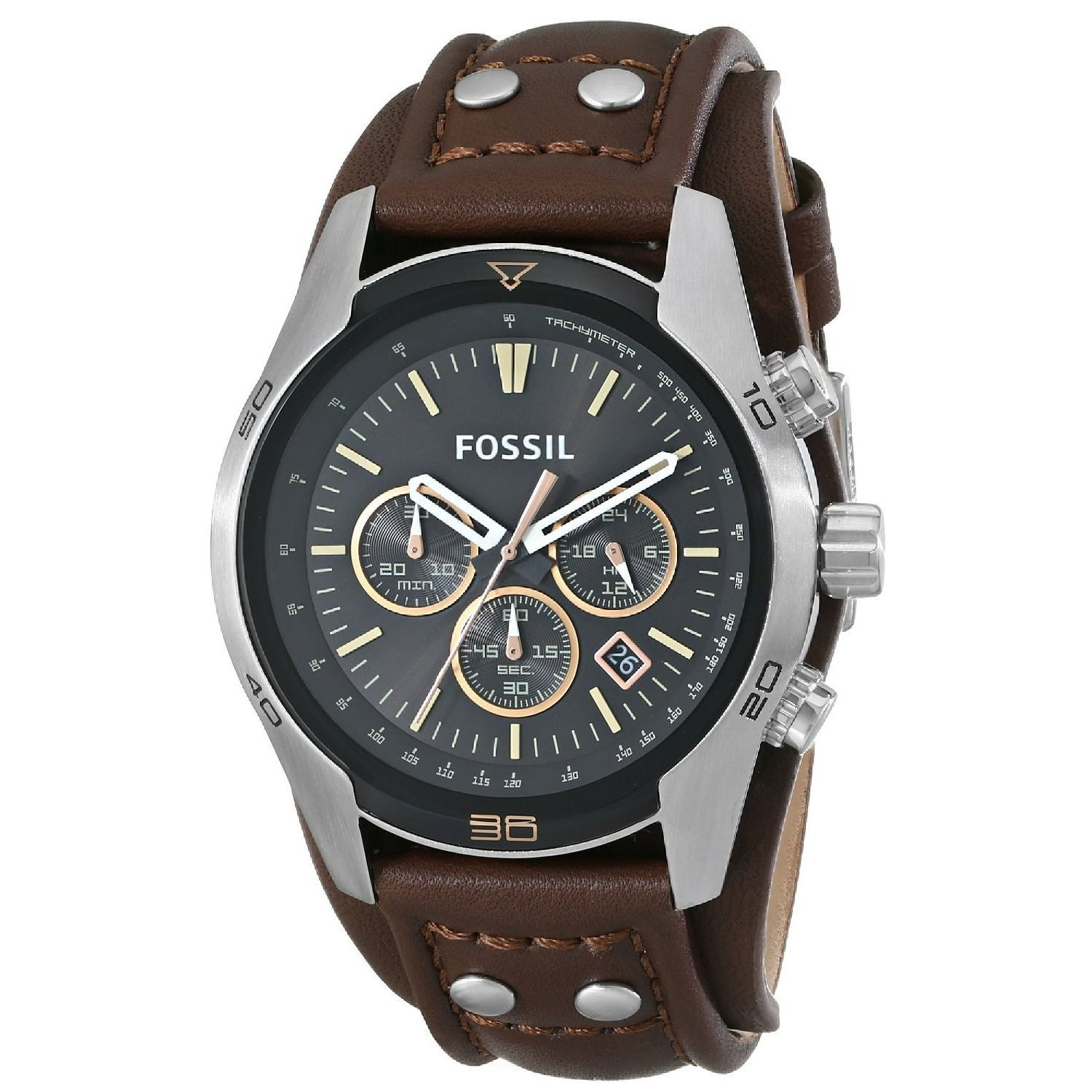 Lee Watch Jam Tangan Pria Kulit Cokelat Sporty M69 Cek Harga Cooper Lc 36g A Strap Leather Hitam Fossil Men S Ch2891 Coachman Brown Free Shipping Today Overstock 16409719