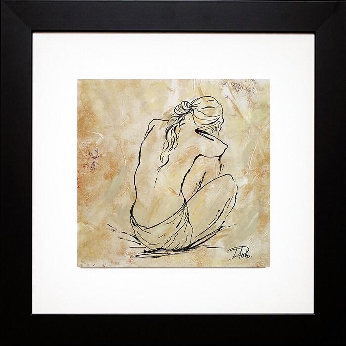 Patricia Pinto \'Nude Sketch on Beige I\' Framed Art Print - Free ...