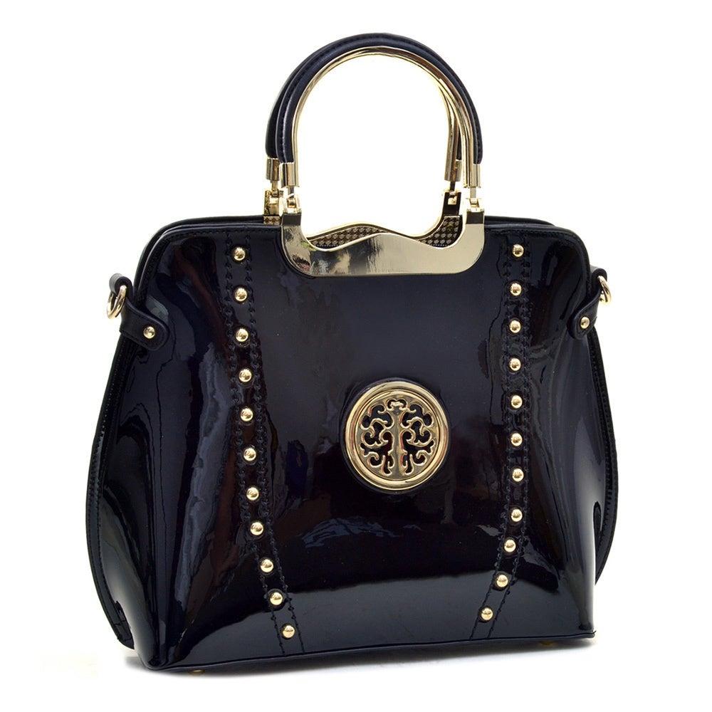 Dasein Patent Studded Flat Bottom Bag Free Shipping Today 9245502