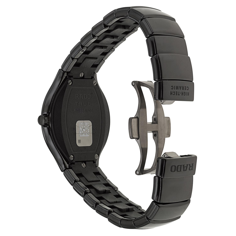 3b3f321d0 Shop Rado Men's 'Rado True Jubile' Black Ceramic Swiss Quartz Watch - Free  Shipping Today - Overstock - 9245646