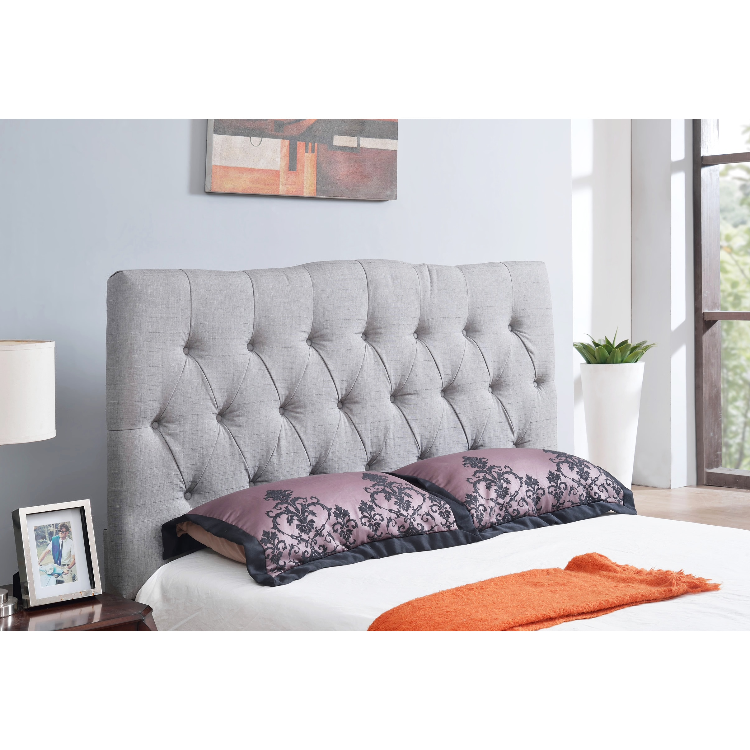 nightstands dazzling tufted size master grey platform in furniture design as uphostered headboard open with modern traditional bed decorate queen ideas shade and lamps table bedroom
