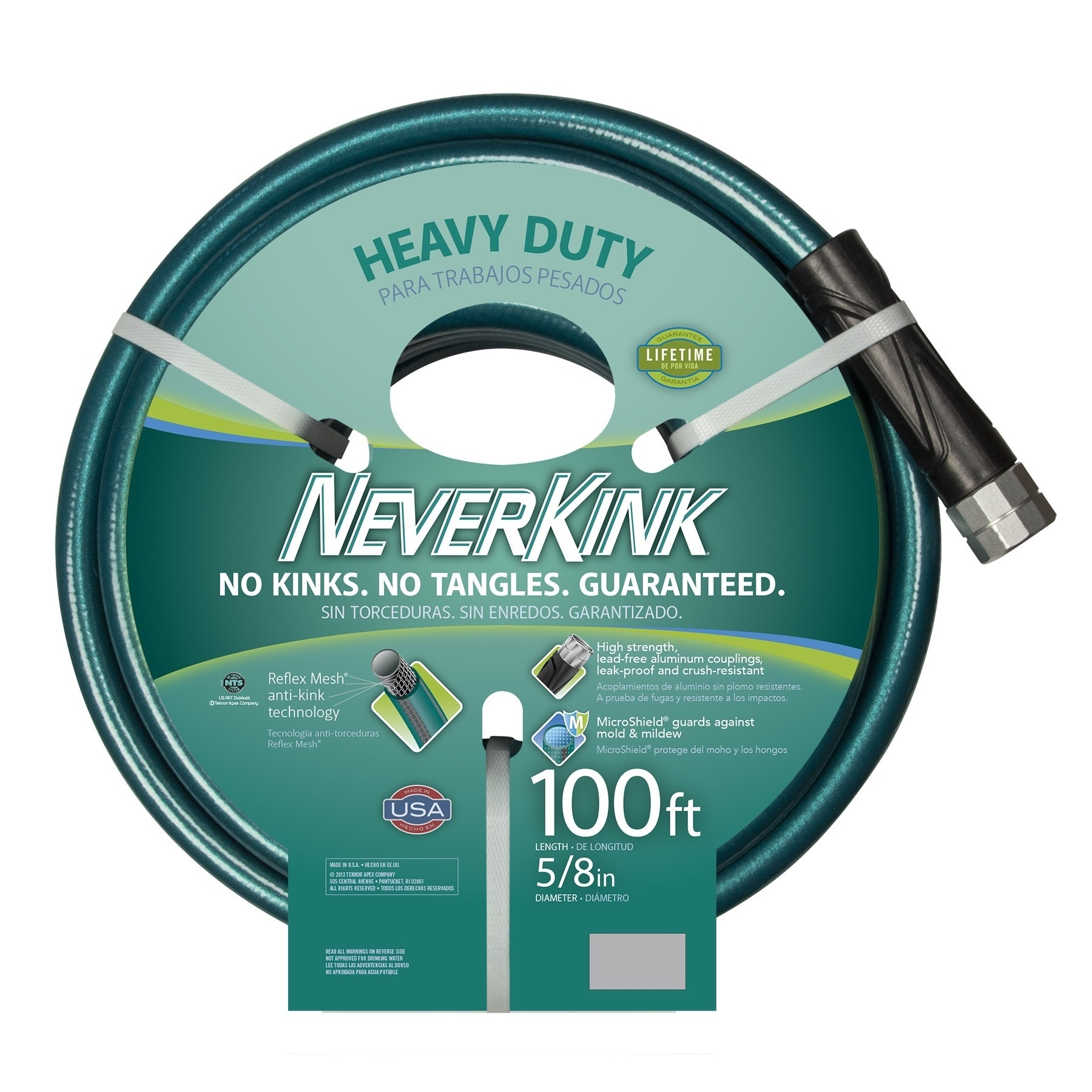 Shop Neverkink Teal/ Grey 100-foot Hose - Free Shipping Today ...