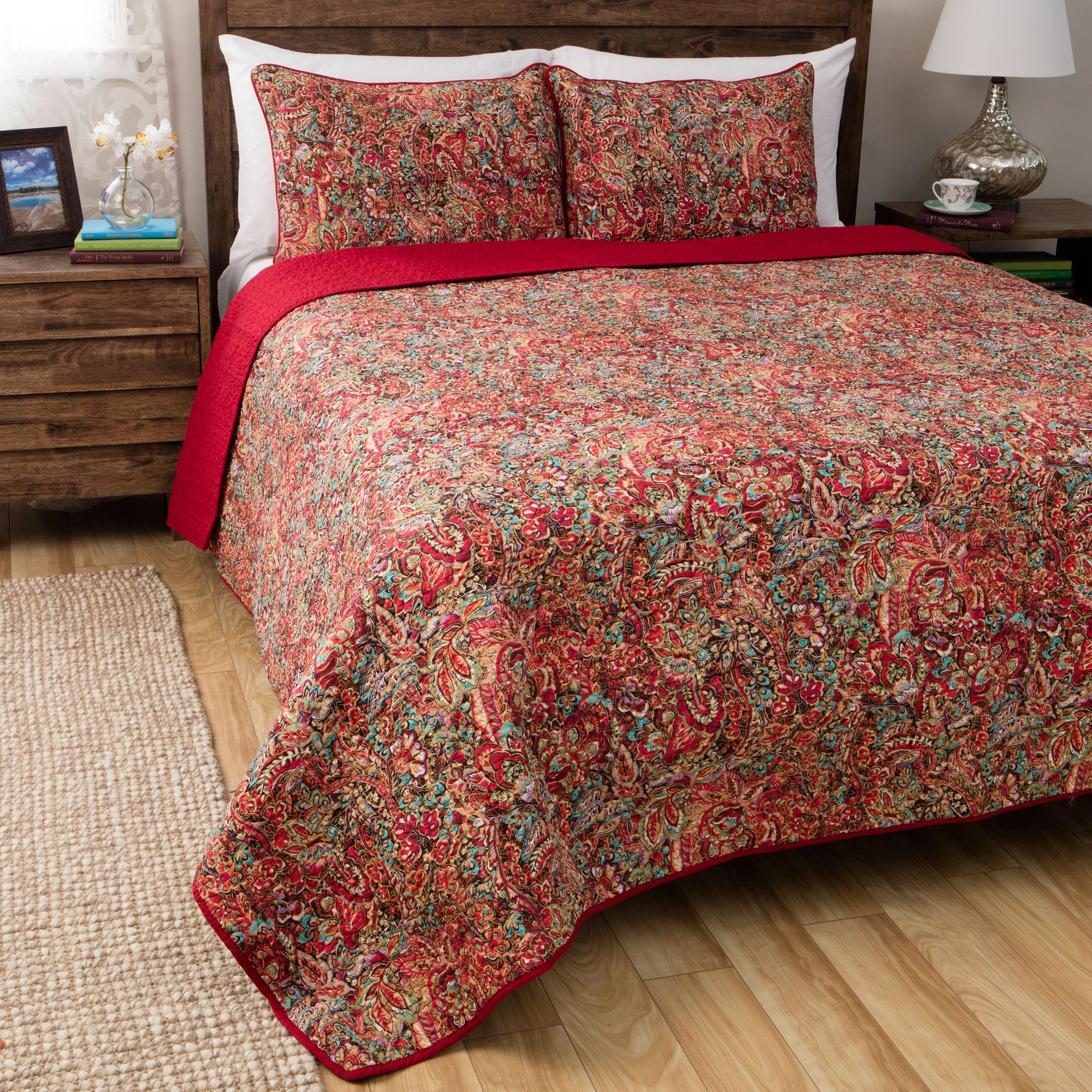 Shop Greenland Home Fashions Persian Multicolored Cotton 3-piece ...