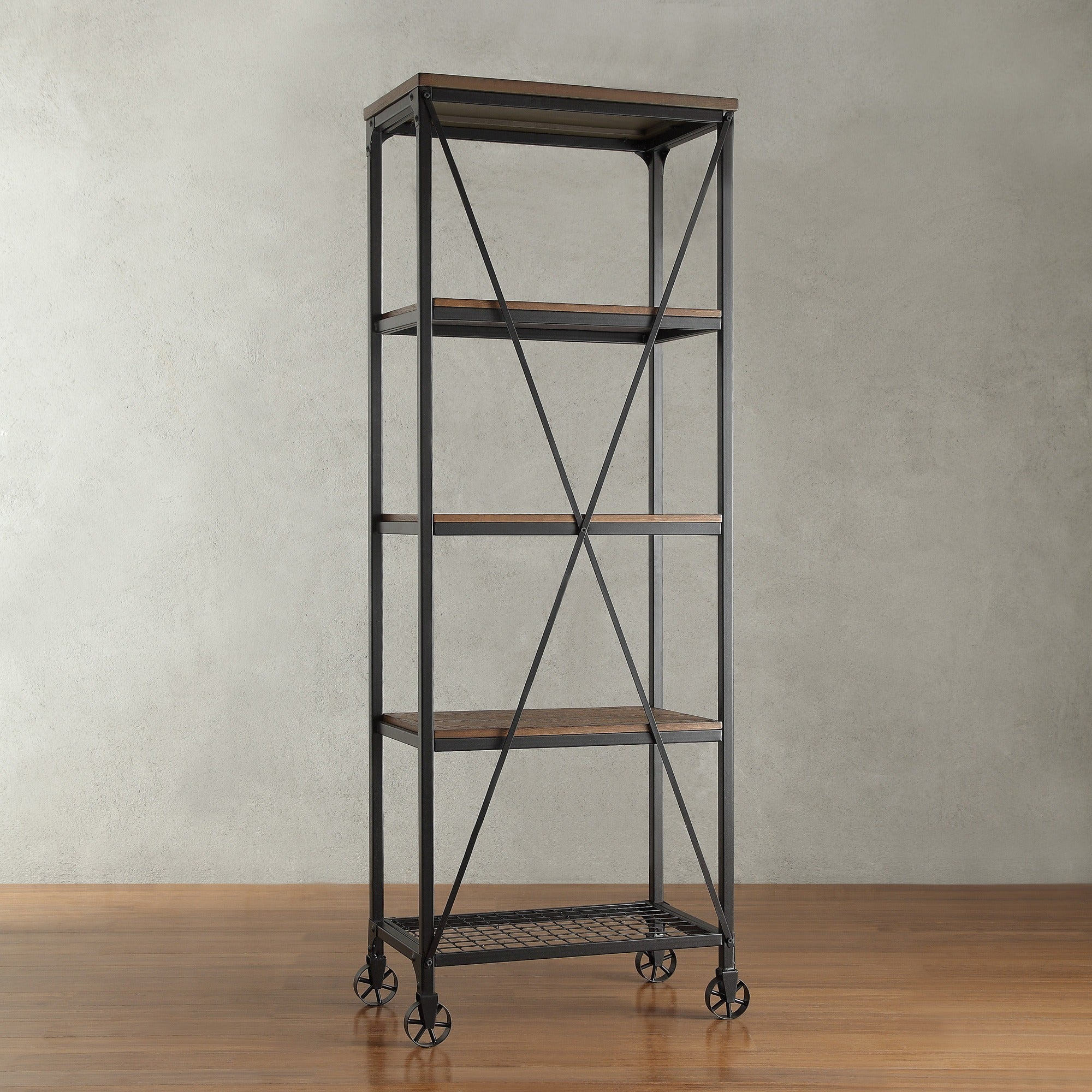 Nelson Industrial Modern Rustic 26-inch Bookcase by iNSPIRE Q ...