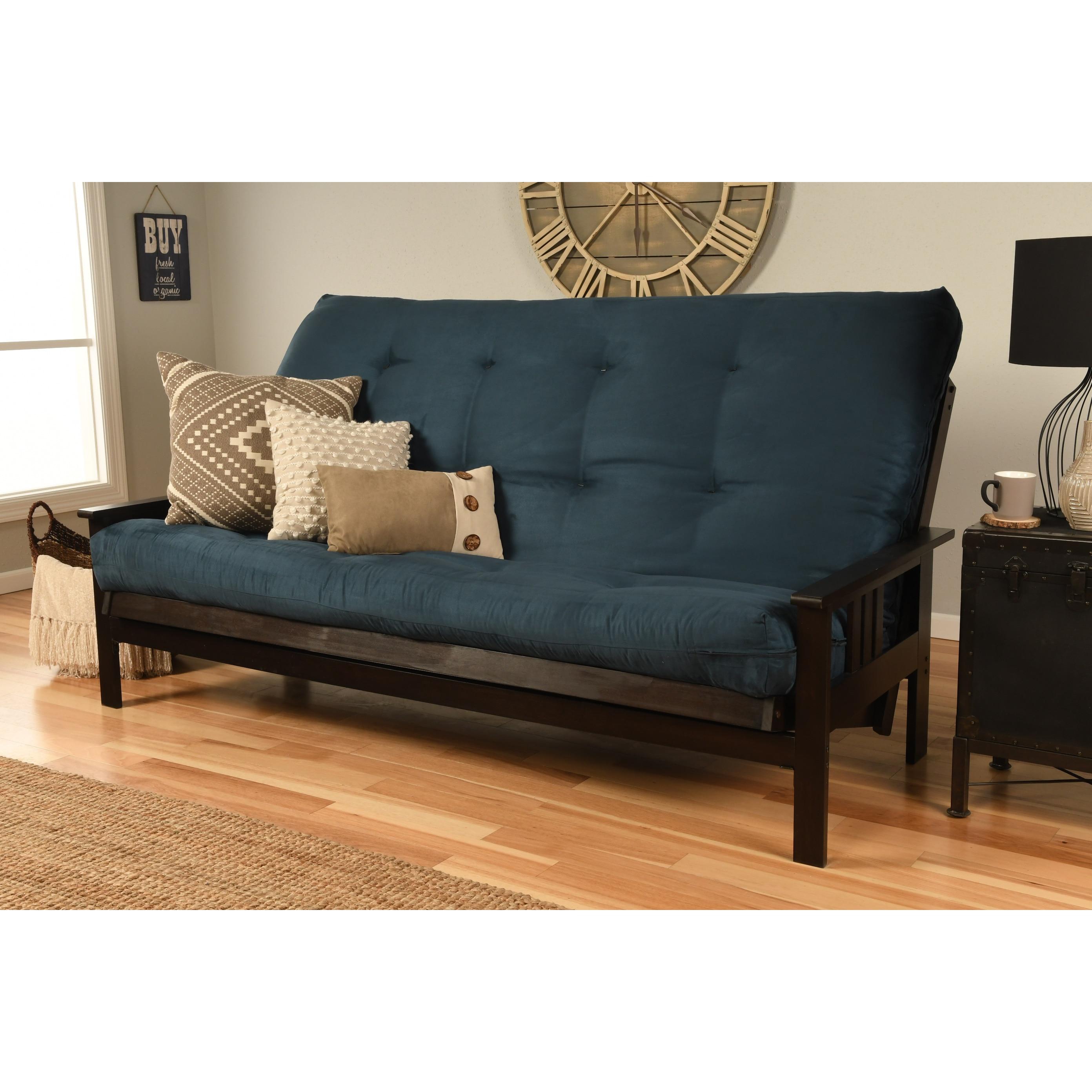 Shop Porch Den Desoto Hardwood Suede Queen Size Futon Sofa Bed