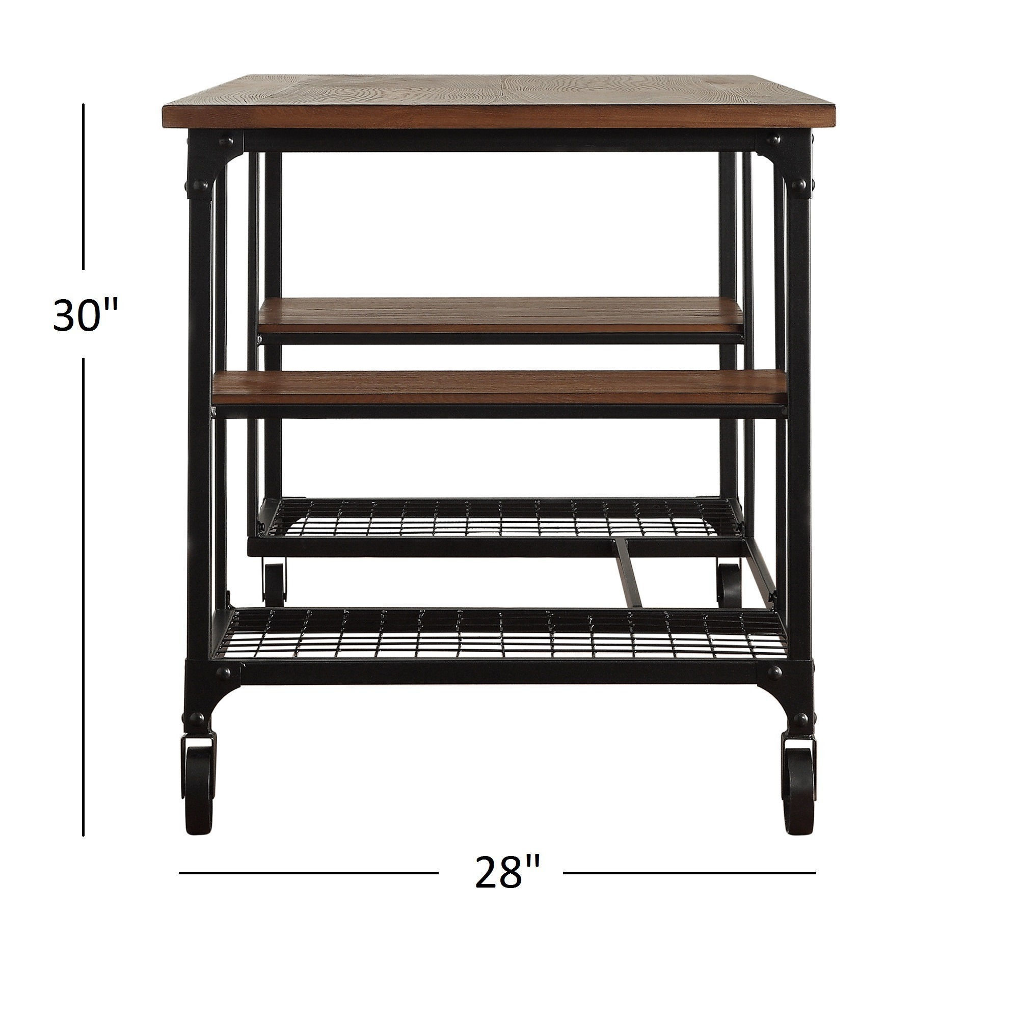 Nelson Industrial Modern Rustic Storage Desk by iNSPIRE Q Classic ...