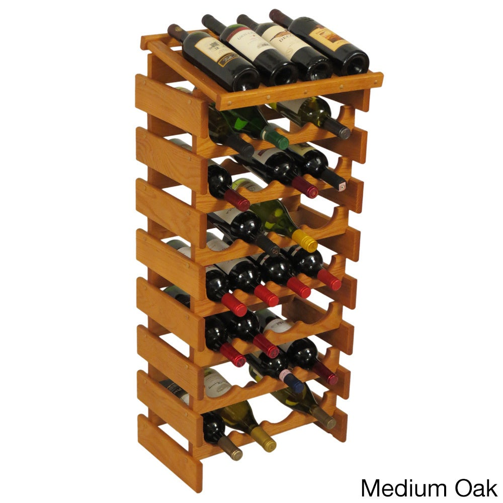 Dakota 32-bottle Stackable Wood Wine Rack with Display Top - Free Shipping  Today - Overstock.com - 16416229