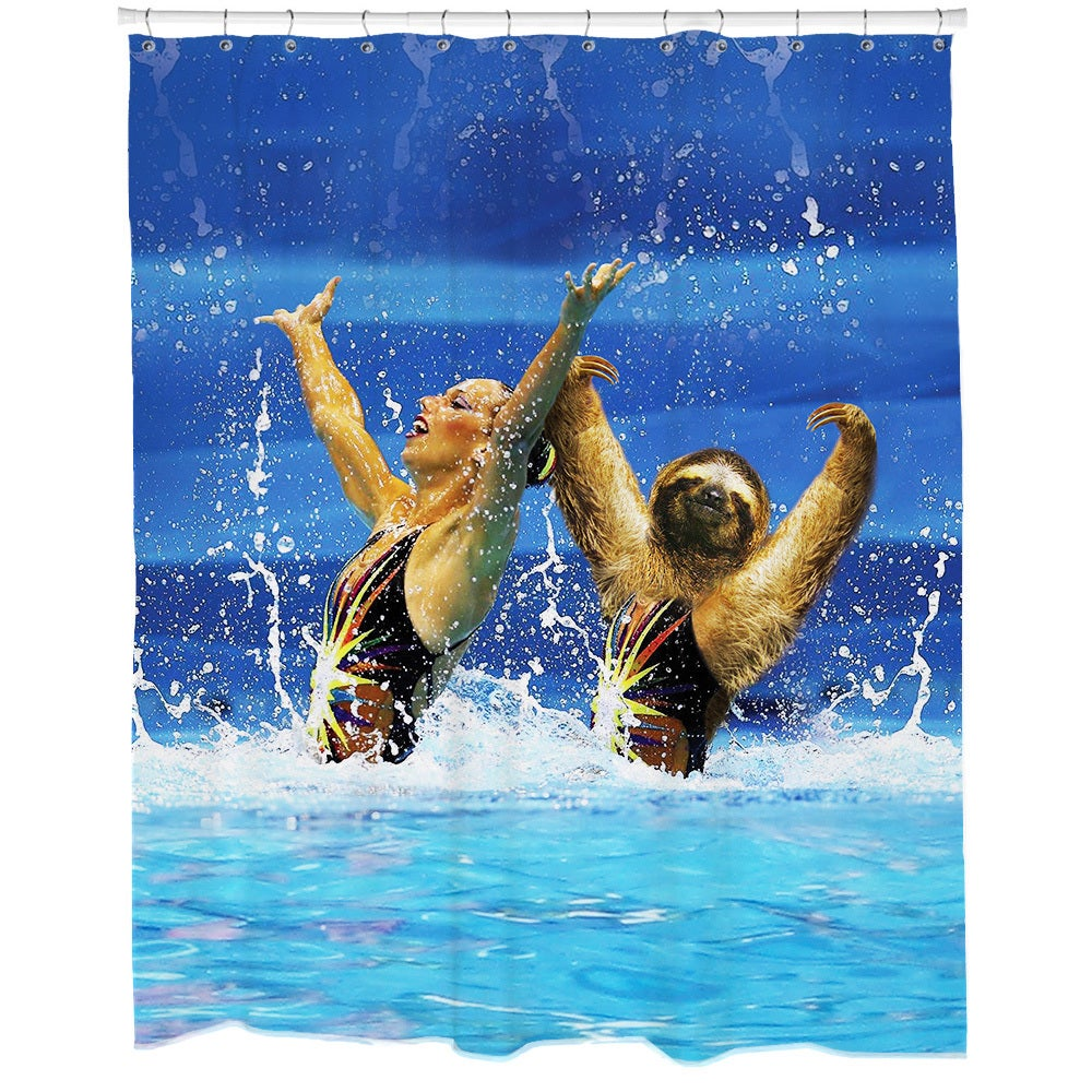 Shop Synchronized Sloth Shower Curtain - Free Shipping Today ...