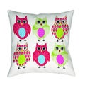 Thumbprintz Owls Throw Pillow or Floor Pillow (Art by Terri Puma)