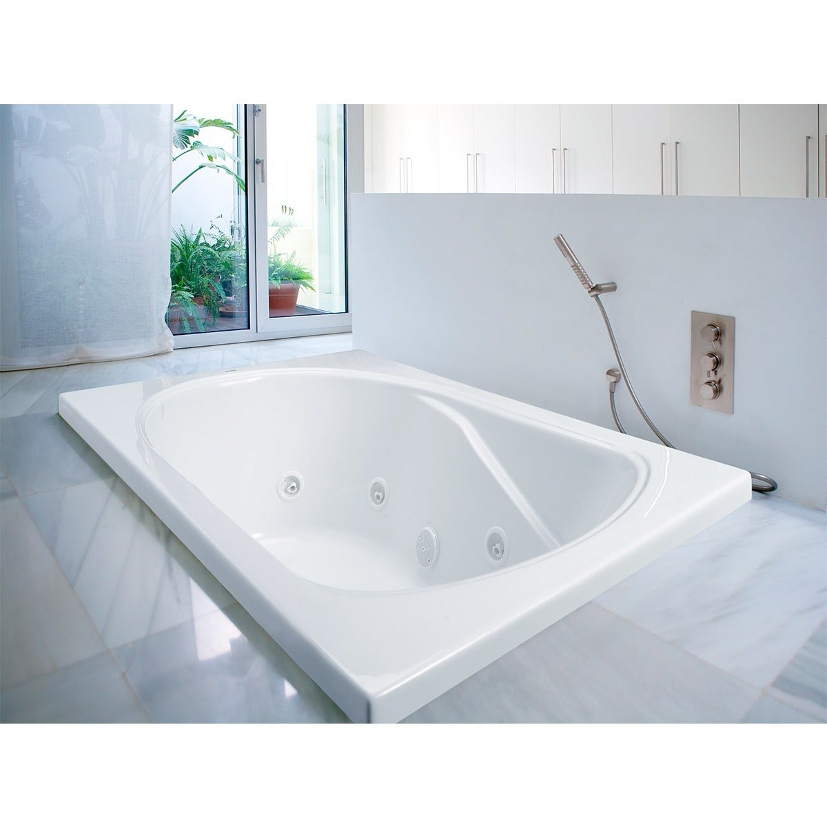 Shop Clarke Products W3660-01CMH Sculptura III Drop-in Whirlpool Tub ...