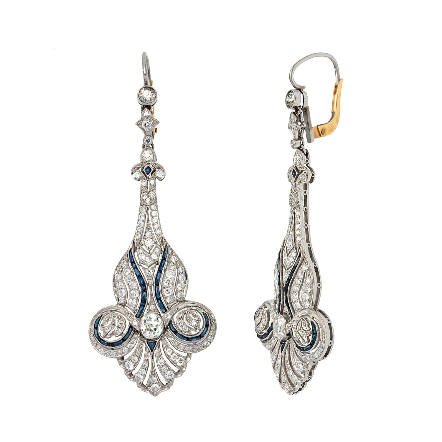 Pre Owned Platinum 3 1 5ct Tdw Diamond And Shire Estate Earrings G H Vs1 Vs2 On Free Shipping Today 9253462