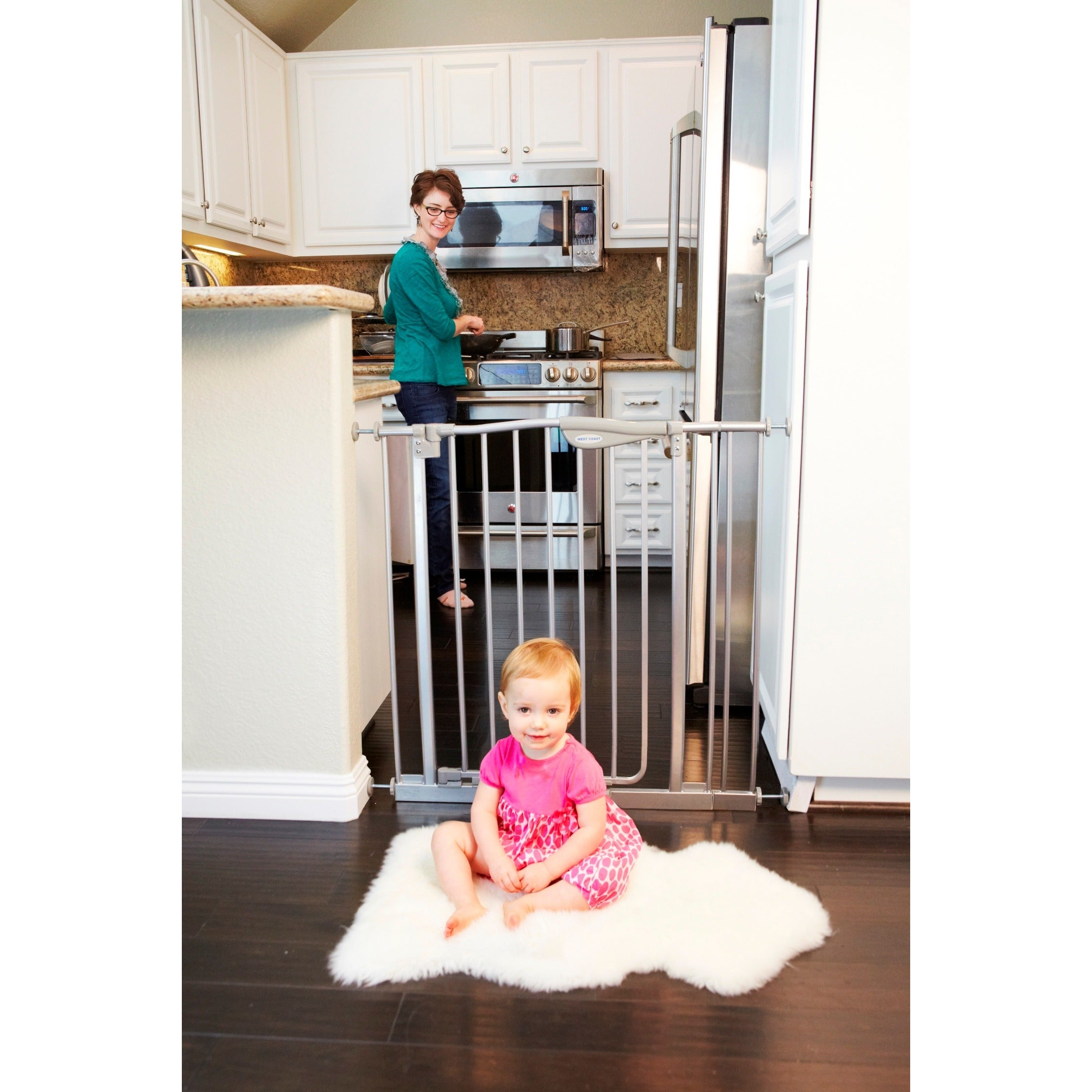 Shop La Baby Self Closing Safety Gate Free Shipping Today