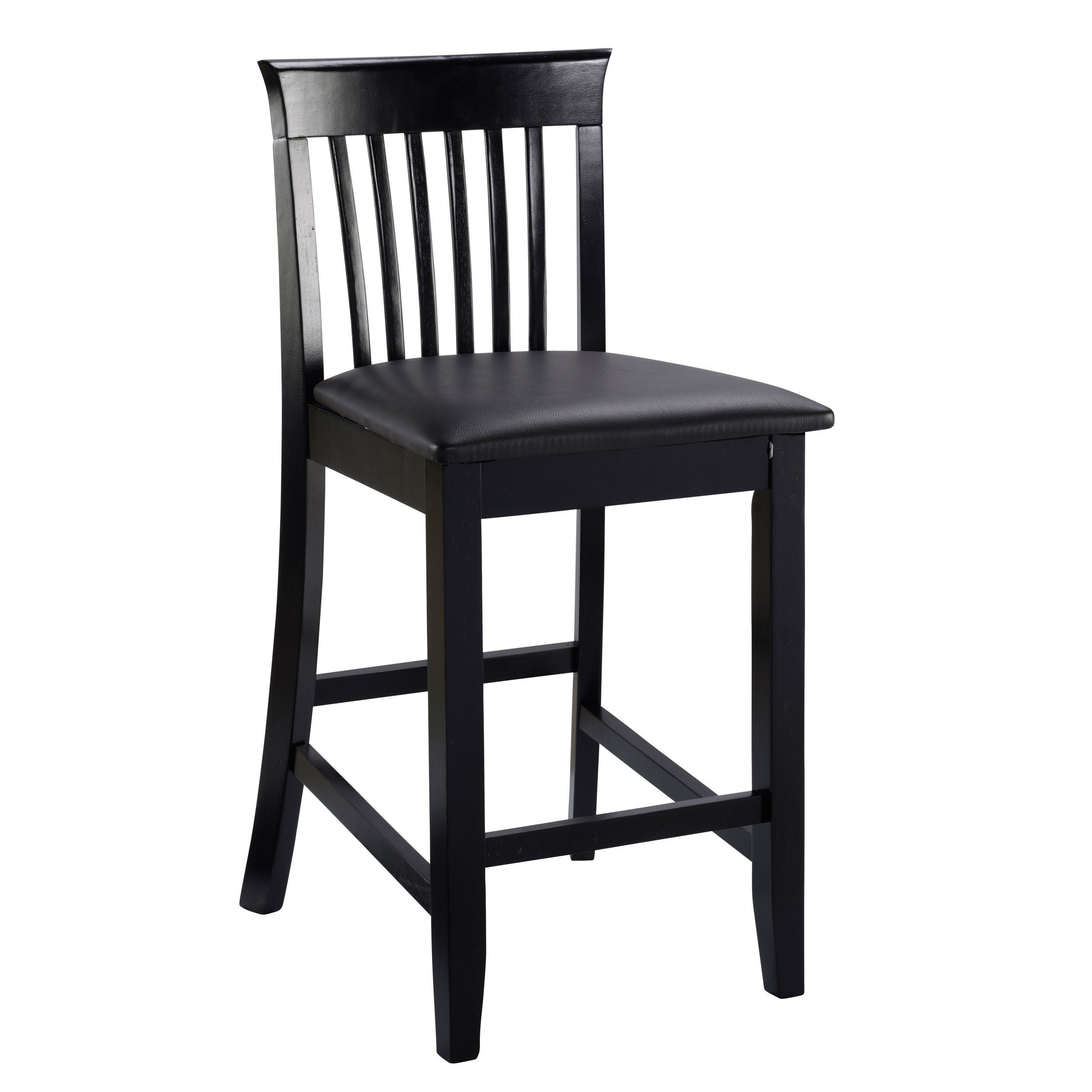 Merveilleux Shop Piedmont Black Slat Back Counter Stool   On Sale   Free Shipping Today    Overstock.com   9253870
