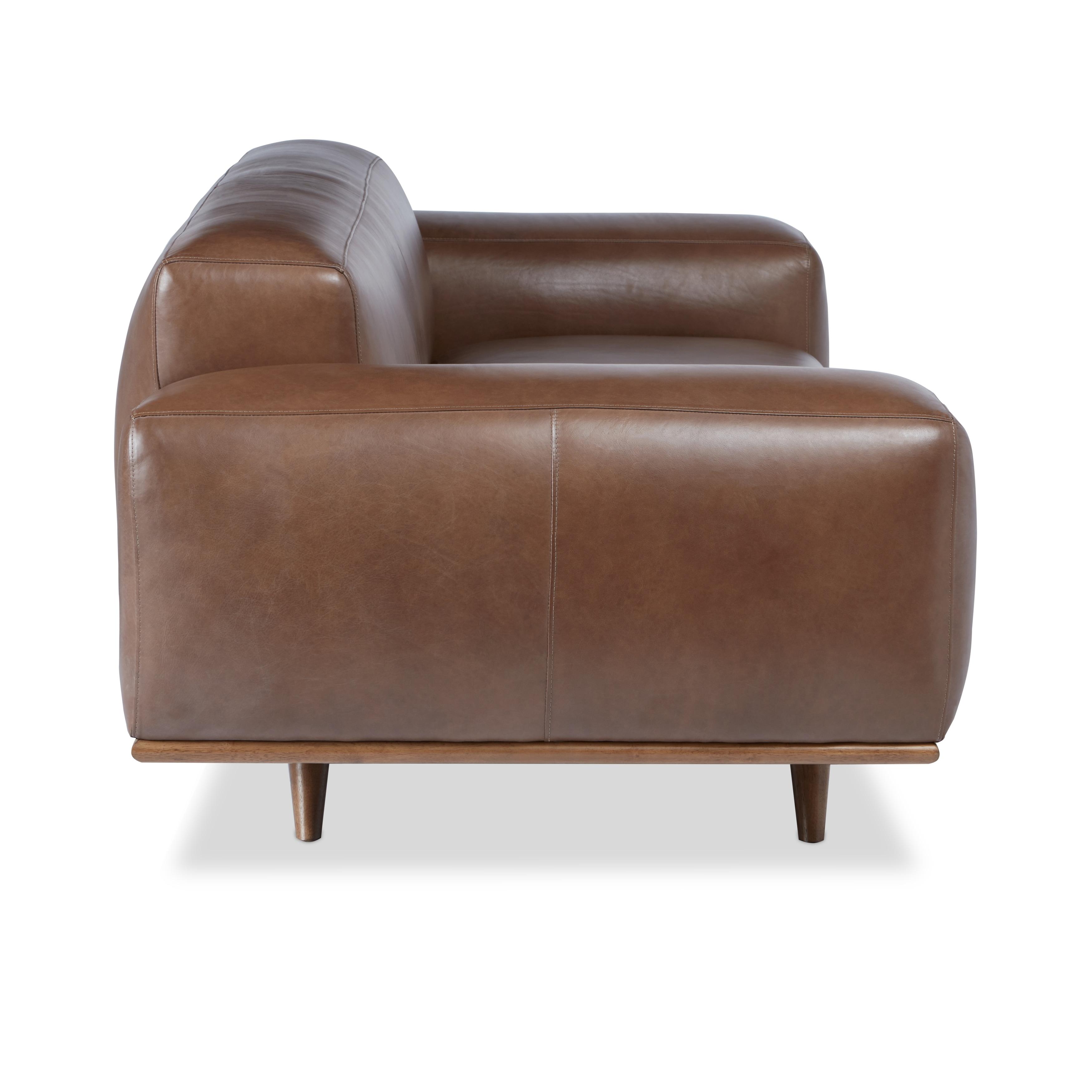 Shop Jasper Laine Dante Italian Oxford Tan Leather Sofa   On Sale   Free  Shipping Today   Overstock.com   9257189