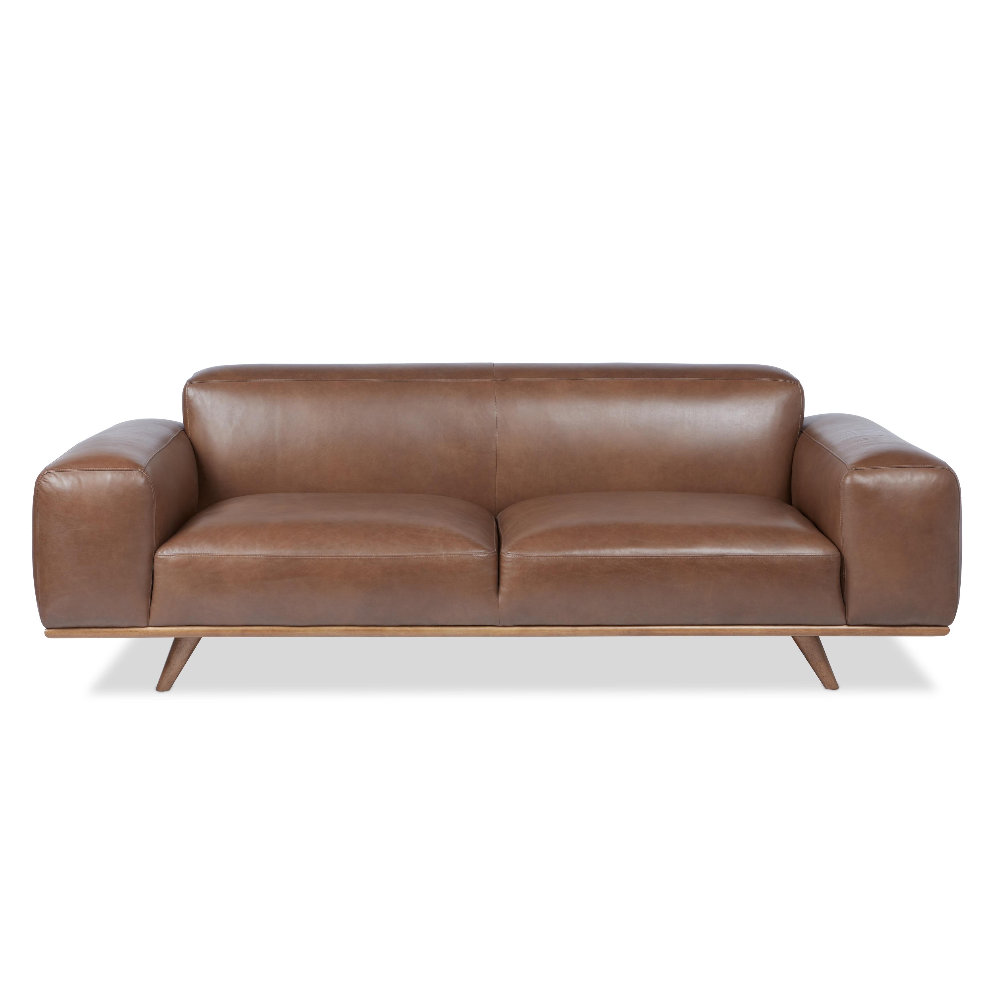 Strick & Bolton Dante Italian Oxford Tan Leather Sofa