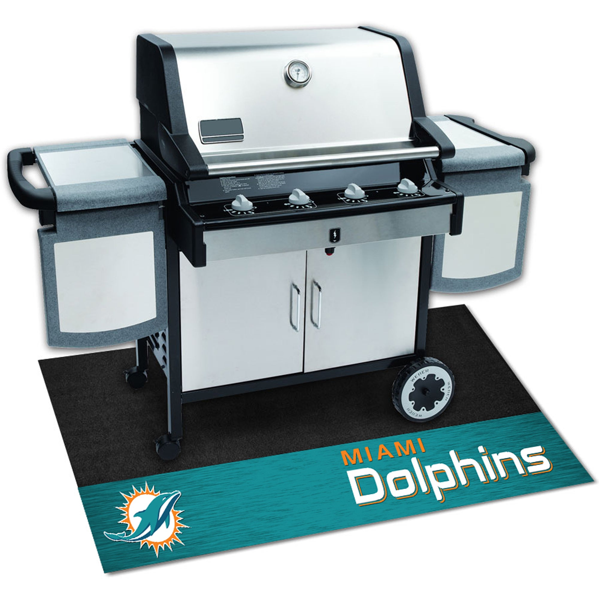dd5cb27a78d Shop Fanmats NFL Black Vinyl Grill Mat - Free Shipping On Orders Over  45 -  Overstock - 9260610