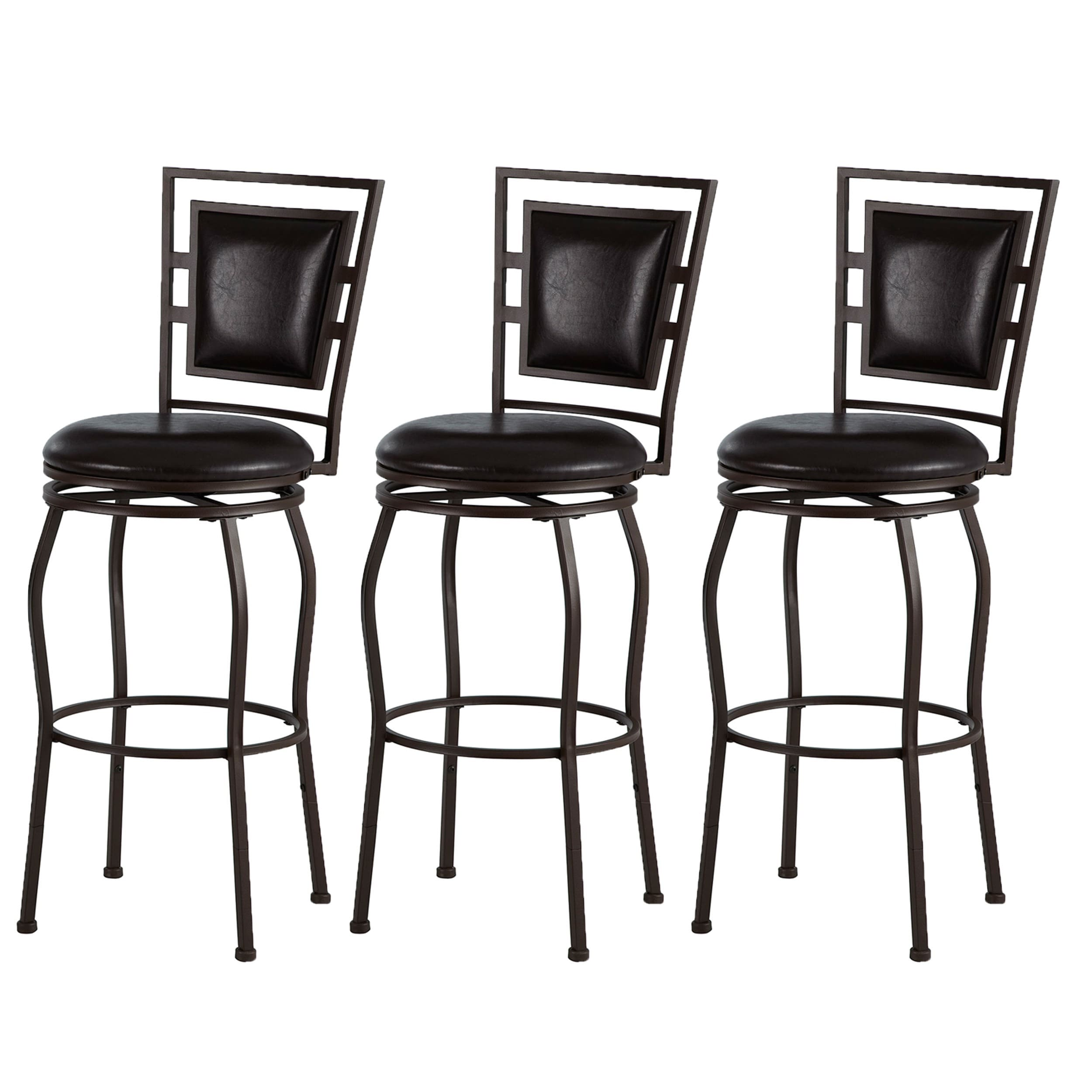 Copper Grove Nantucket Adjule Bar Stools Set Of 3 16 X 18 38 5 44 75 H On Free Shipping Today 20461293