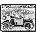 "Crafty Individuals Unmounted Rubber Stamp 4.75""X7"" Pkg-Chunky Vintage Car Tag"