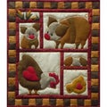 "Ham And Eggs Quilt Kit-13""X15"""