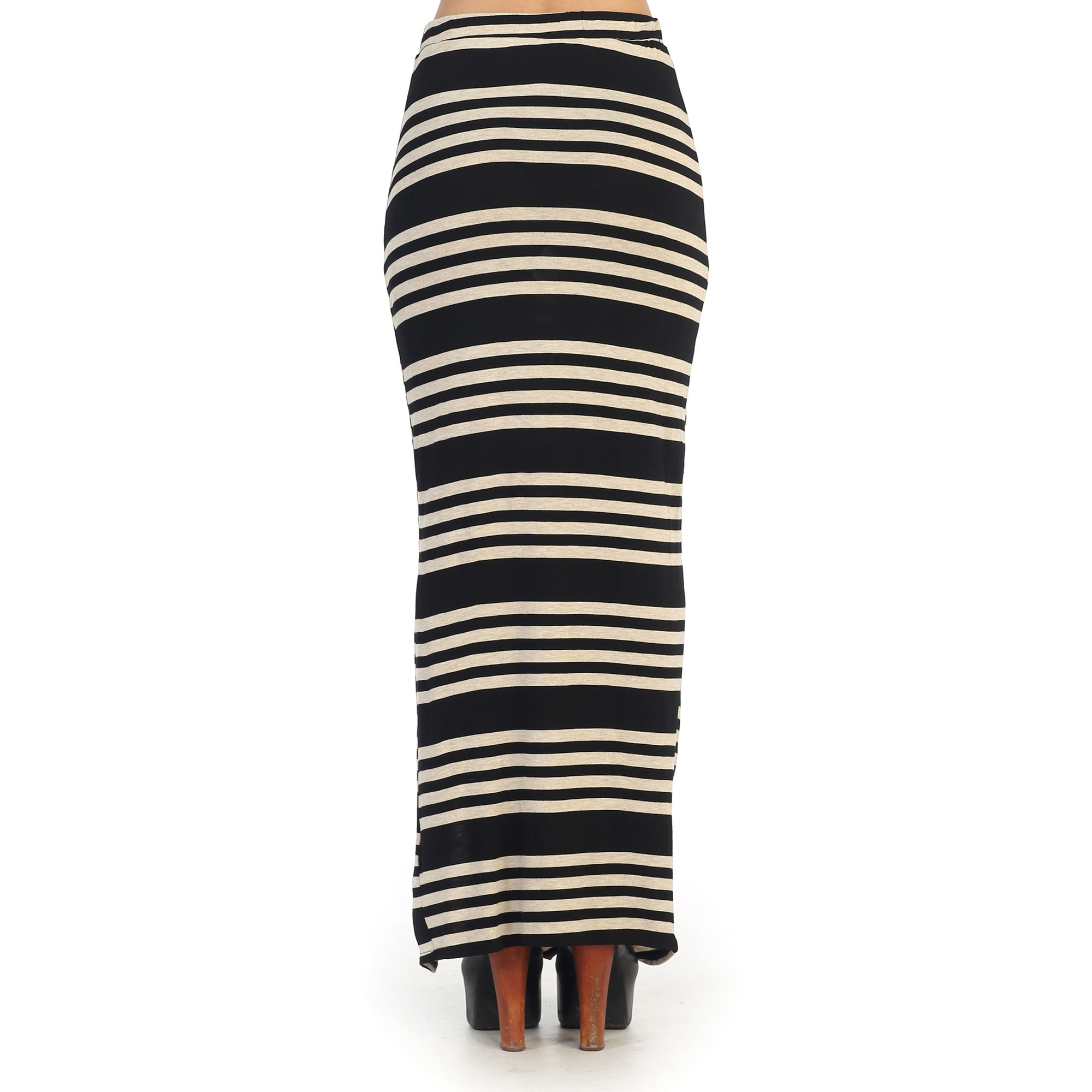 5d3633db0904 Shop Hadari Juniors Black and White Striped Maxi Skirt - Free Shipping On  Orders Over $45 - Overstock - 9264035