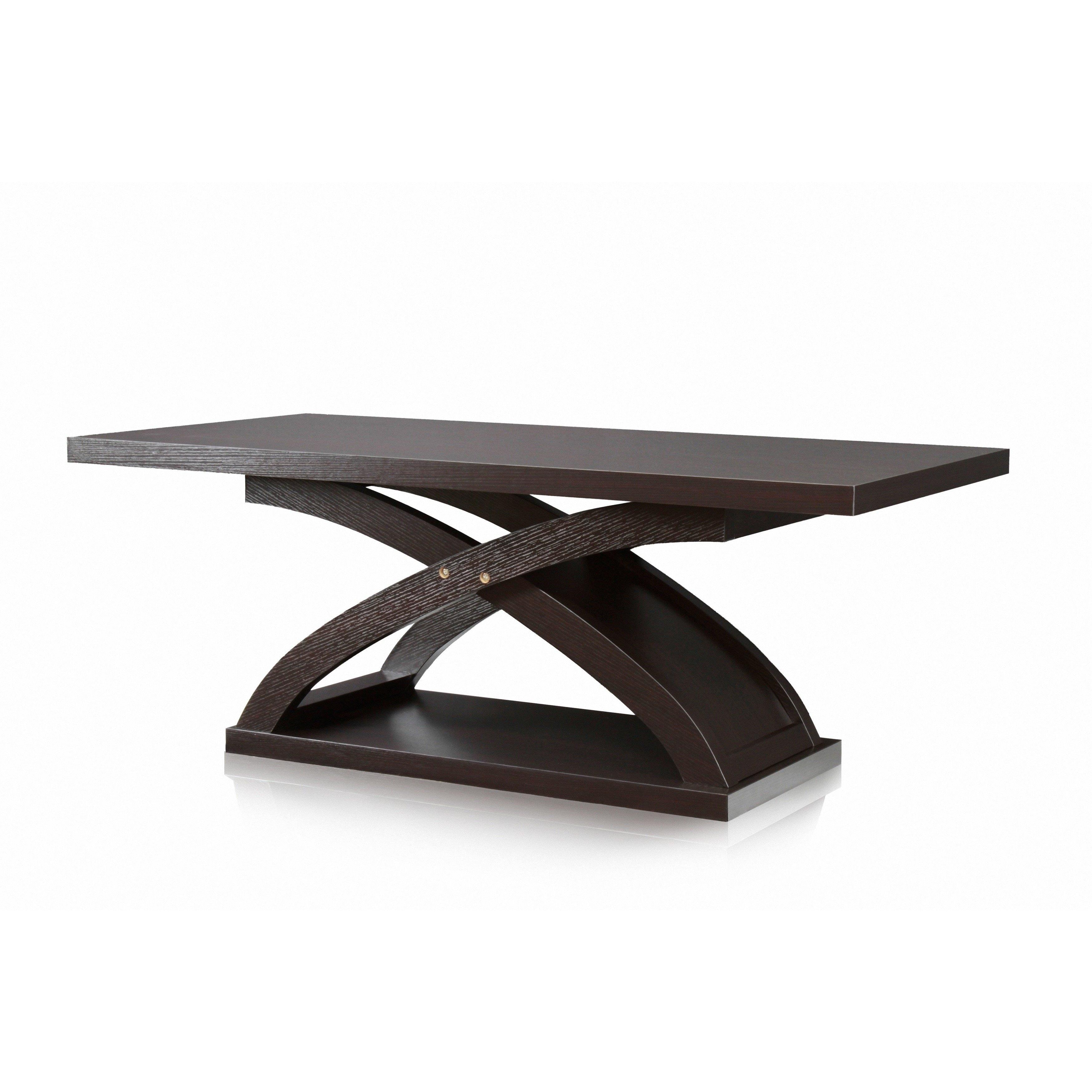 Furniture Of America Barkley Espresso Wood X Base Coffee Table