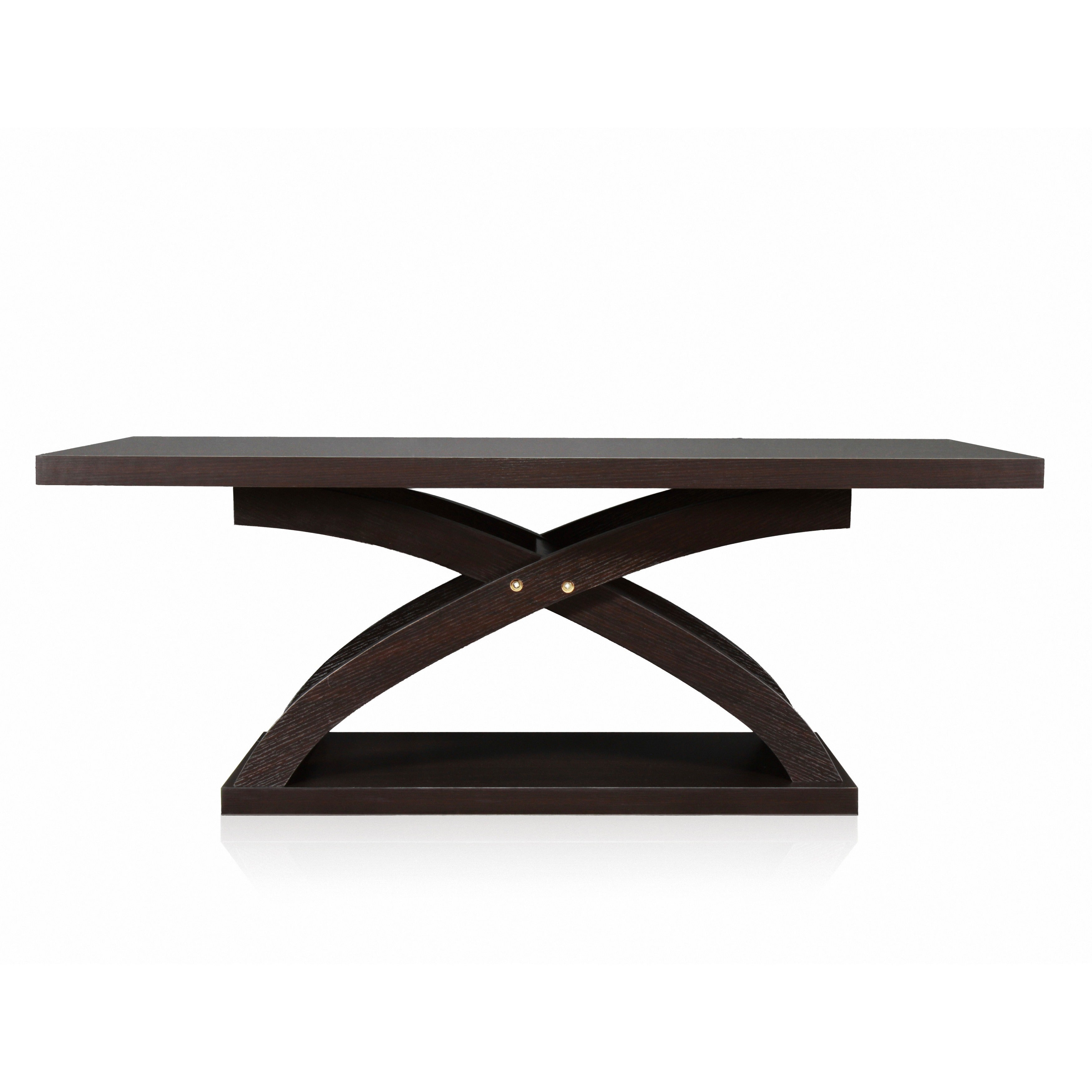 Shop Furniture Of America Barkley Espresso Wood X Base Coffee Table