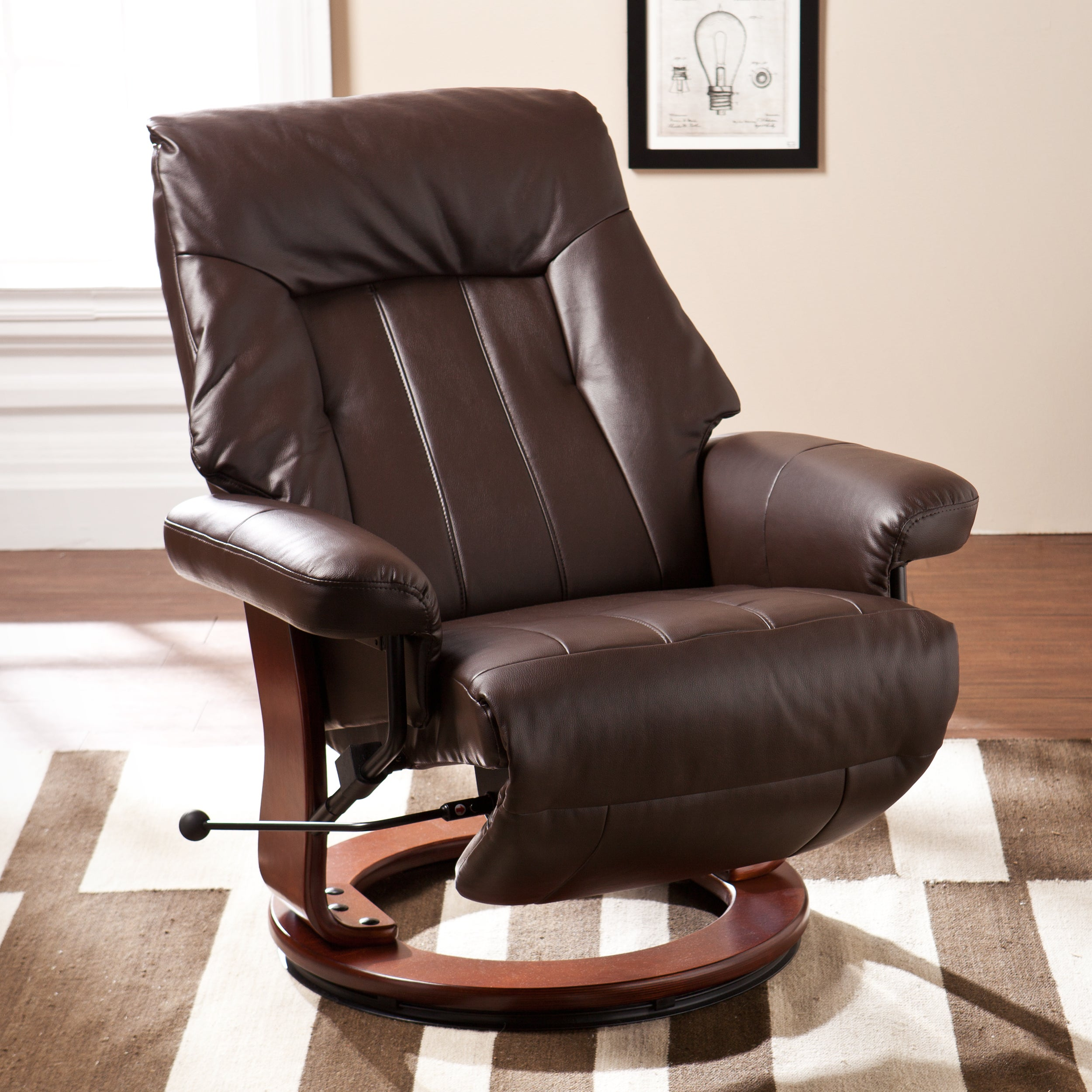 with recliner city back black high ekornes ottoman leather stressless
